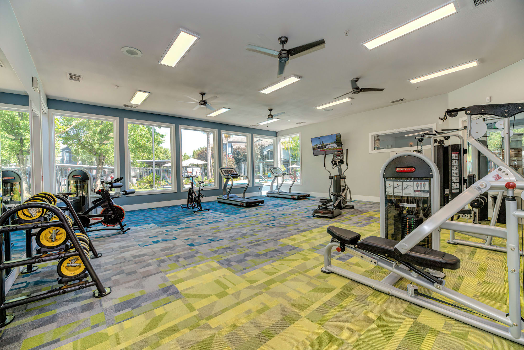 Community fitness center at Avion Apartments in Rancho Cordova, California