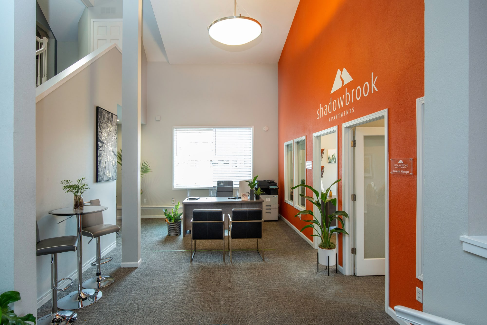 Interior of the clubhouse at Shadowbrook Apartments in West Valley City, Utah