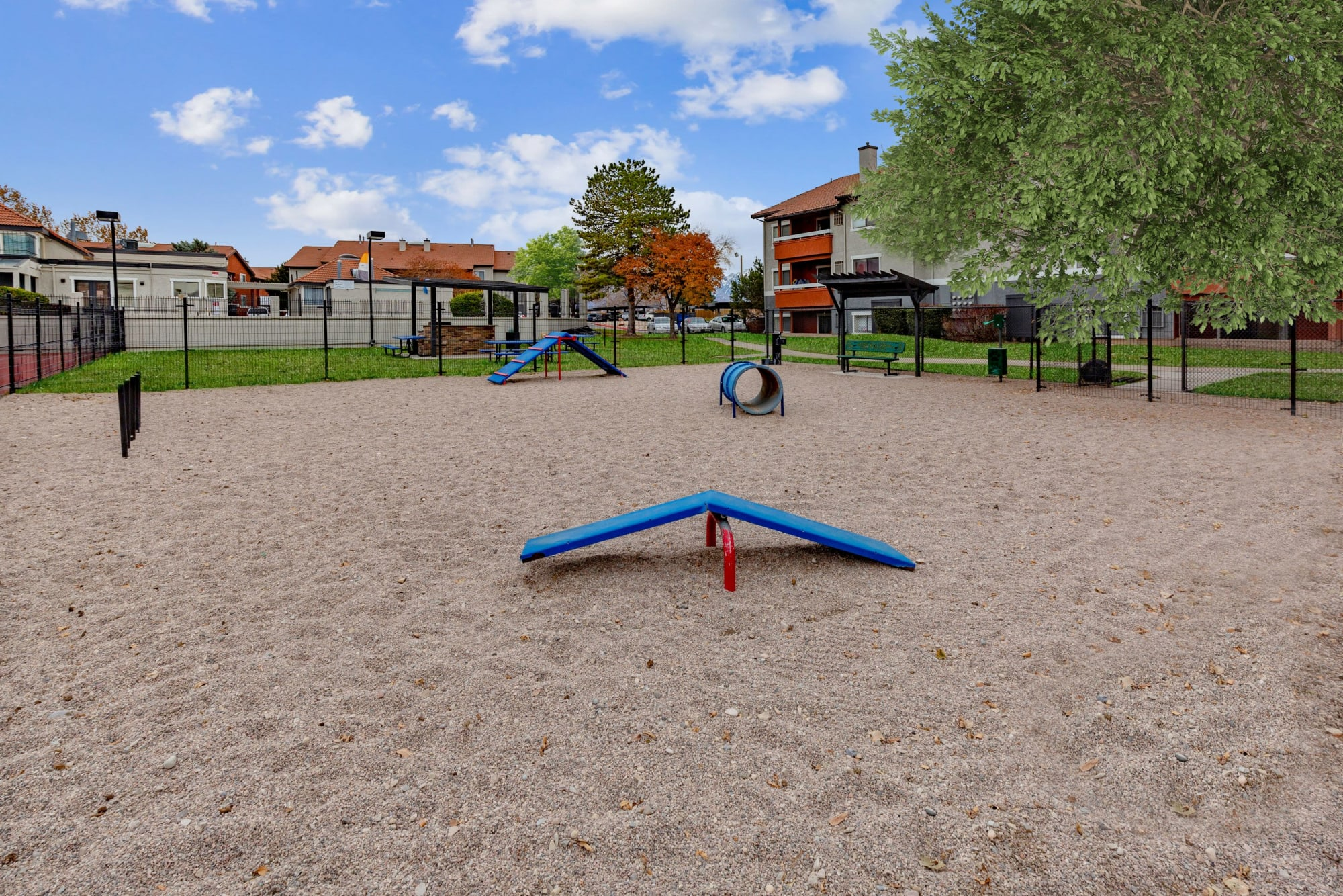 Off-leash dog park at Shadowbrook Apartments in West Valley City, Utah