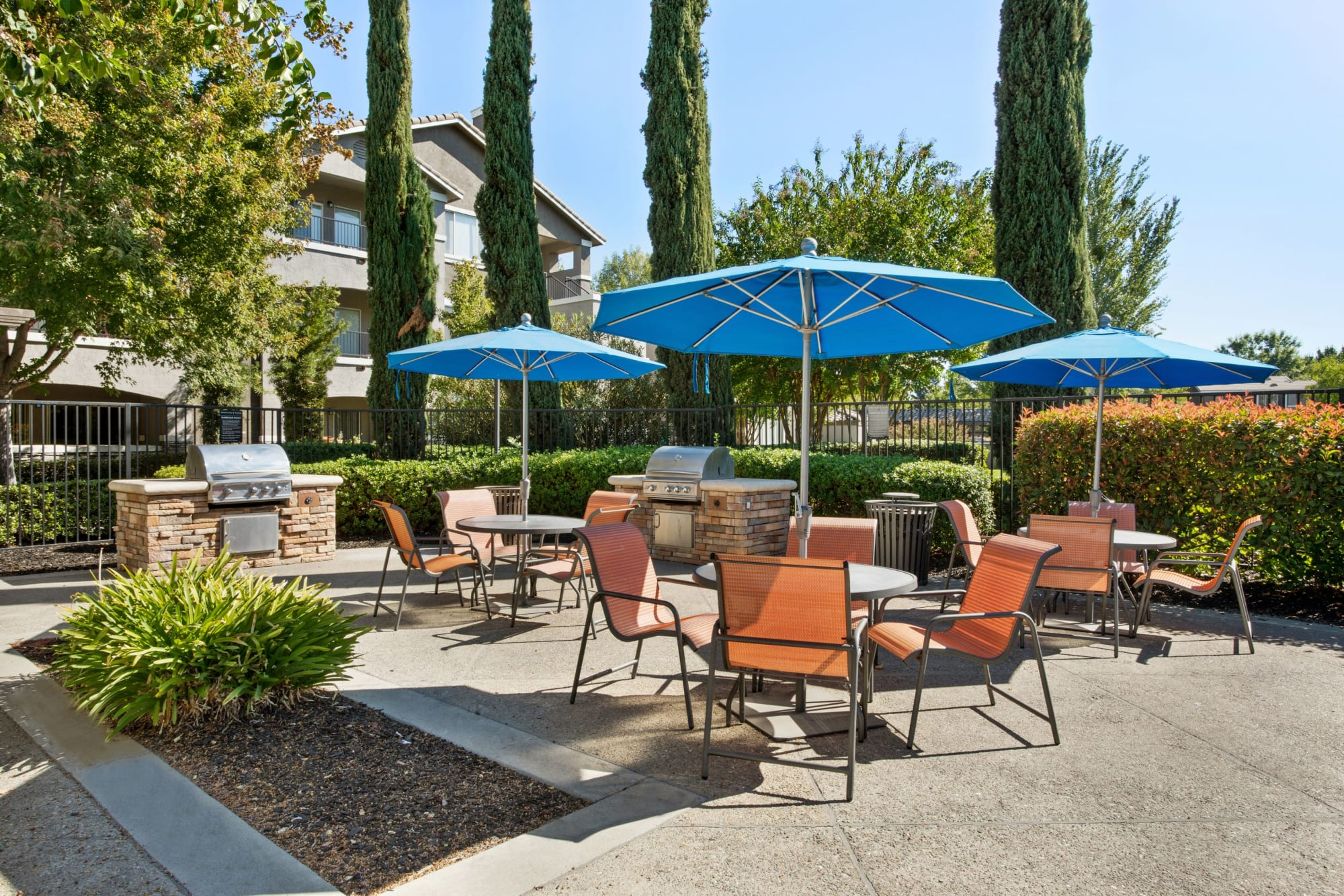 BBQ area at Miramonte and Trovas in Sacramento, California