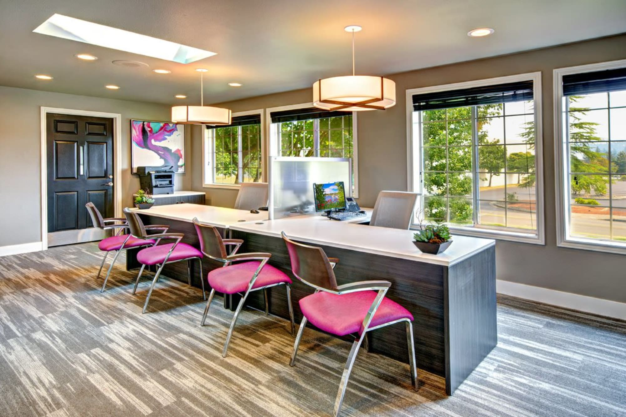 The leasing office at Wellington Apartment Homes in Silverdale, Washington