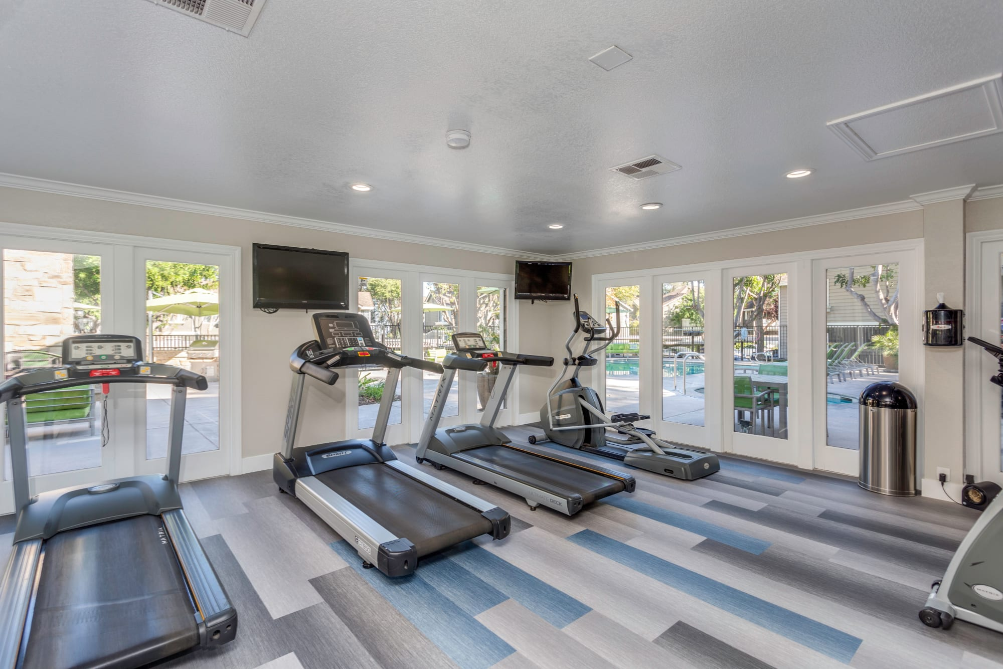 Fitness center at Village Oaks in Chino Hills, California