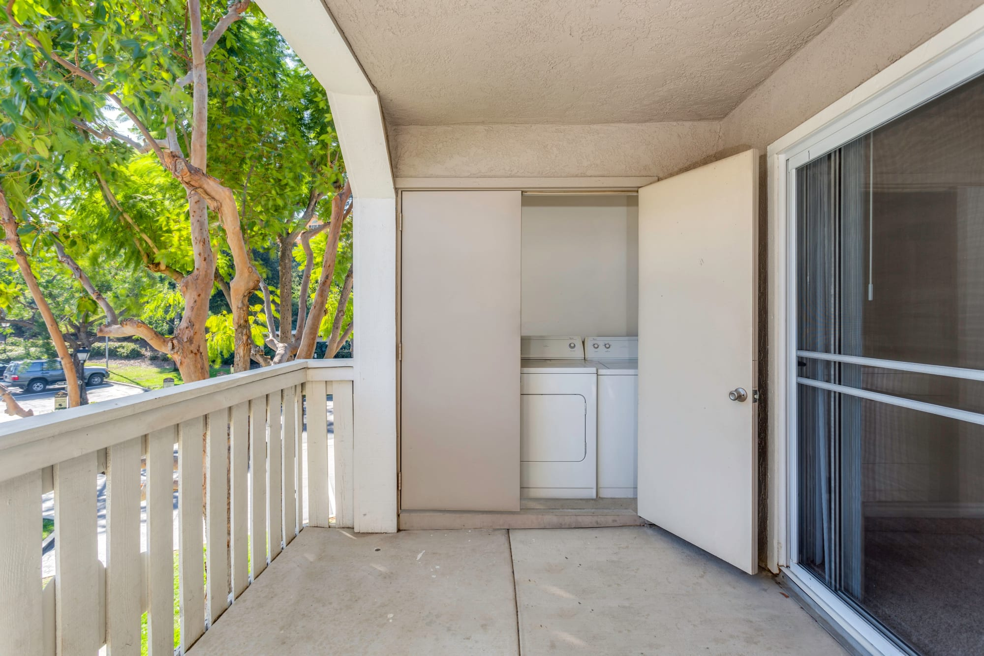 Washer and dryer at Village Oaks in Chino Hills, California