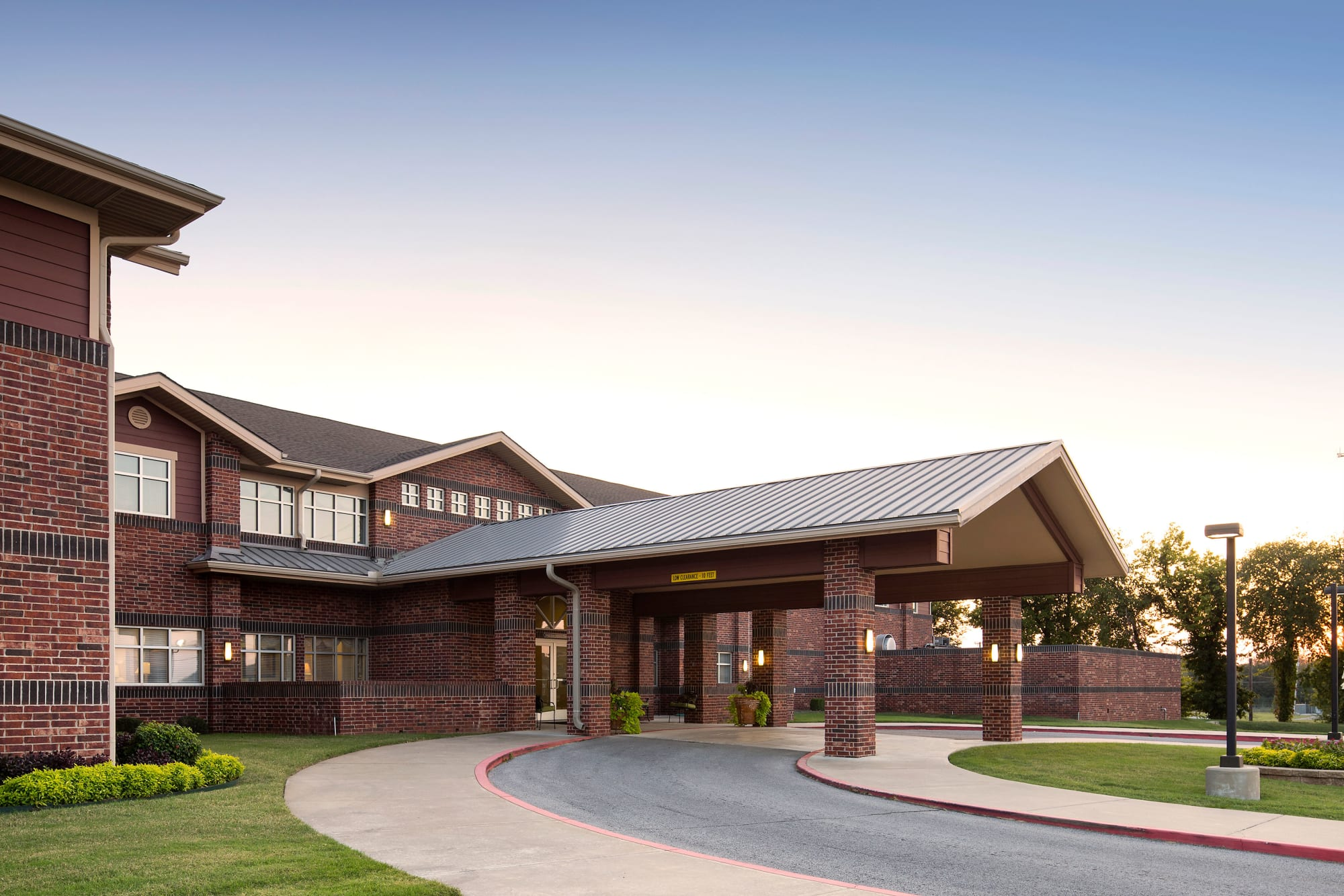 Driveway leading into Canoe Brook Assisted Living & Memory Care in Catoosa, Oklahoma