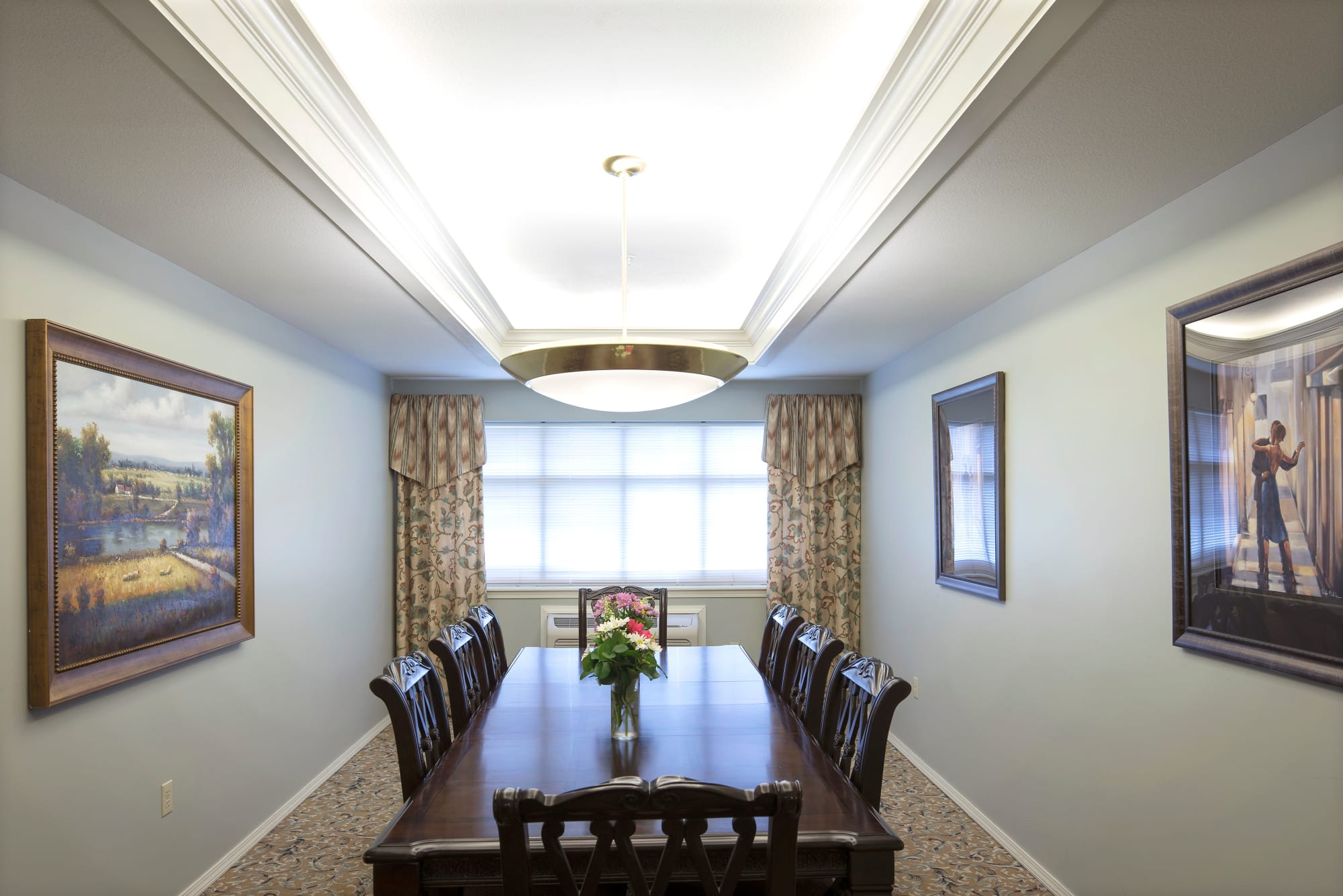 Private family dining room at Canoe Brook Assisted Living & Memory Care in Catoosa, Oklahoma