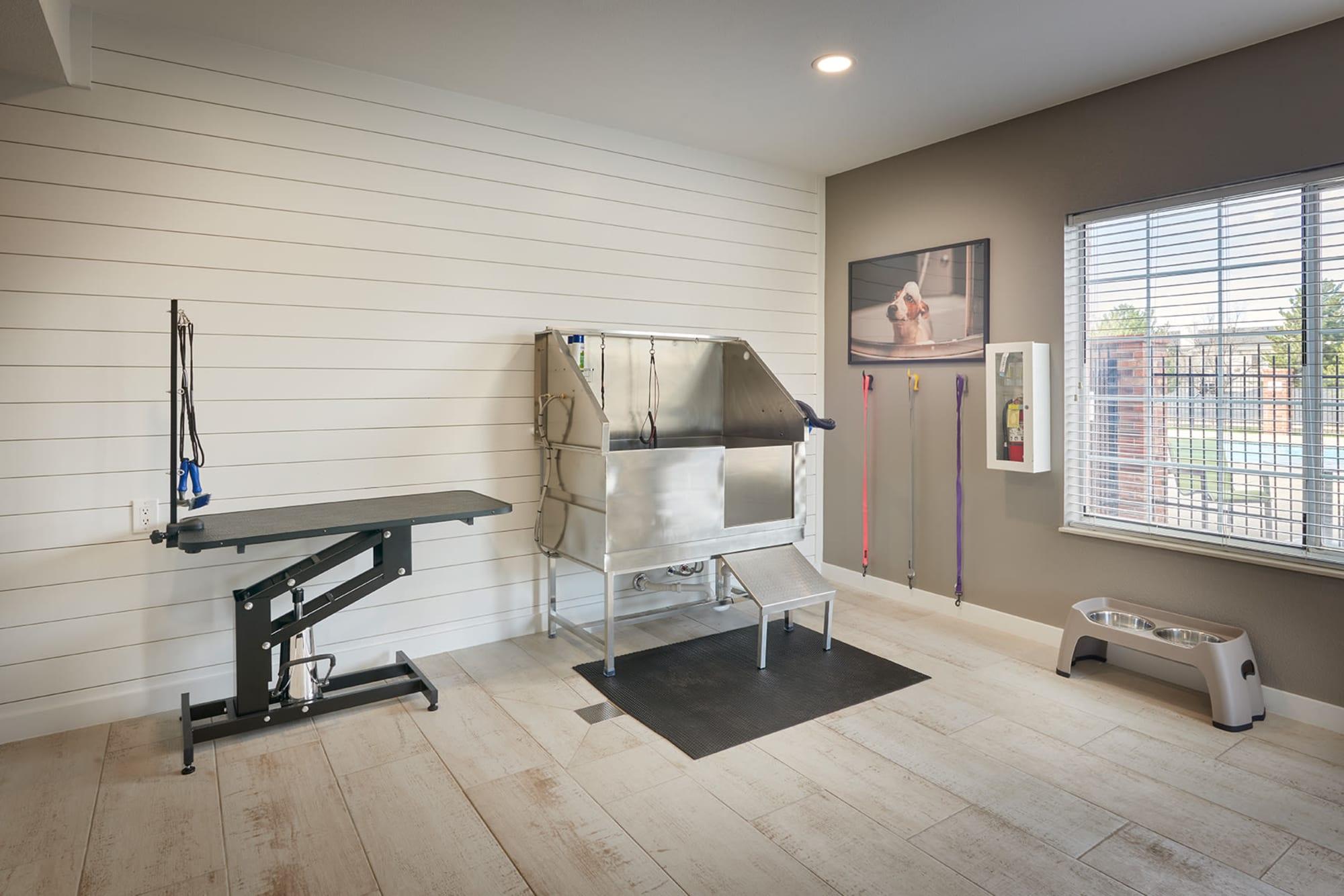 Pet Wash Room at Villas at Homestead Apartments in Englewood, Colorado