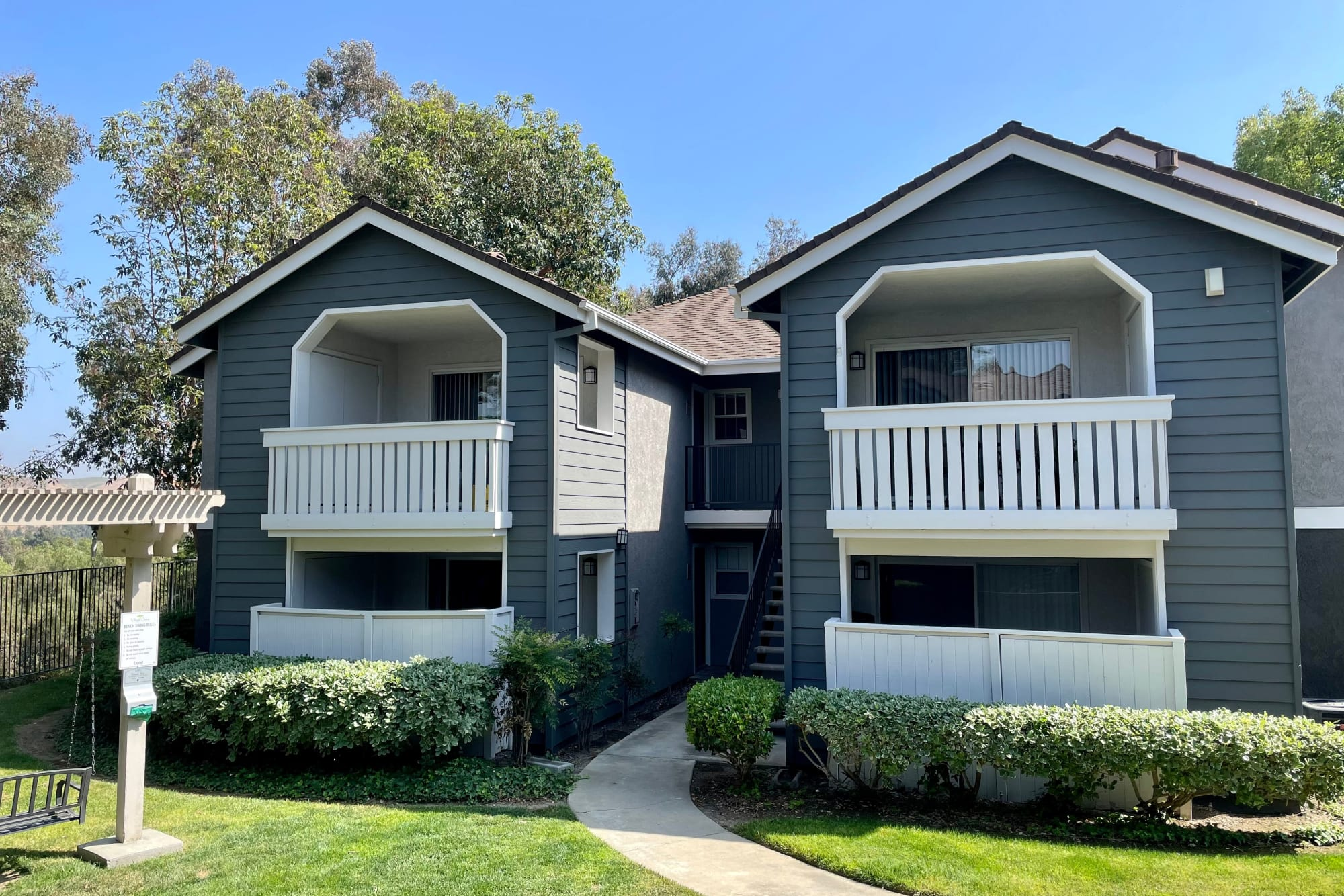 Building Exterior with New Paint at Village Oaks in Chino Hills, California