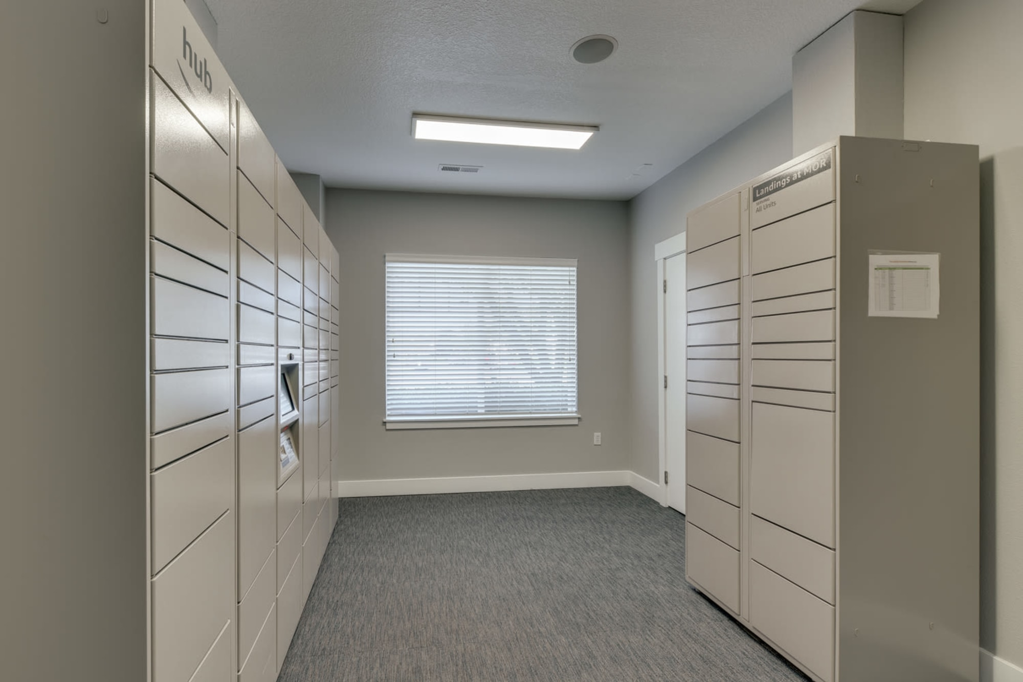 24-hour package lockers with Amazon HUB at The Landings at Morrison Apartments in Gresham, Oregon