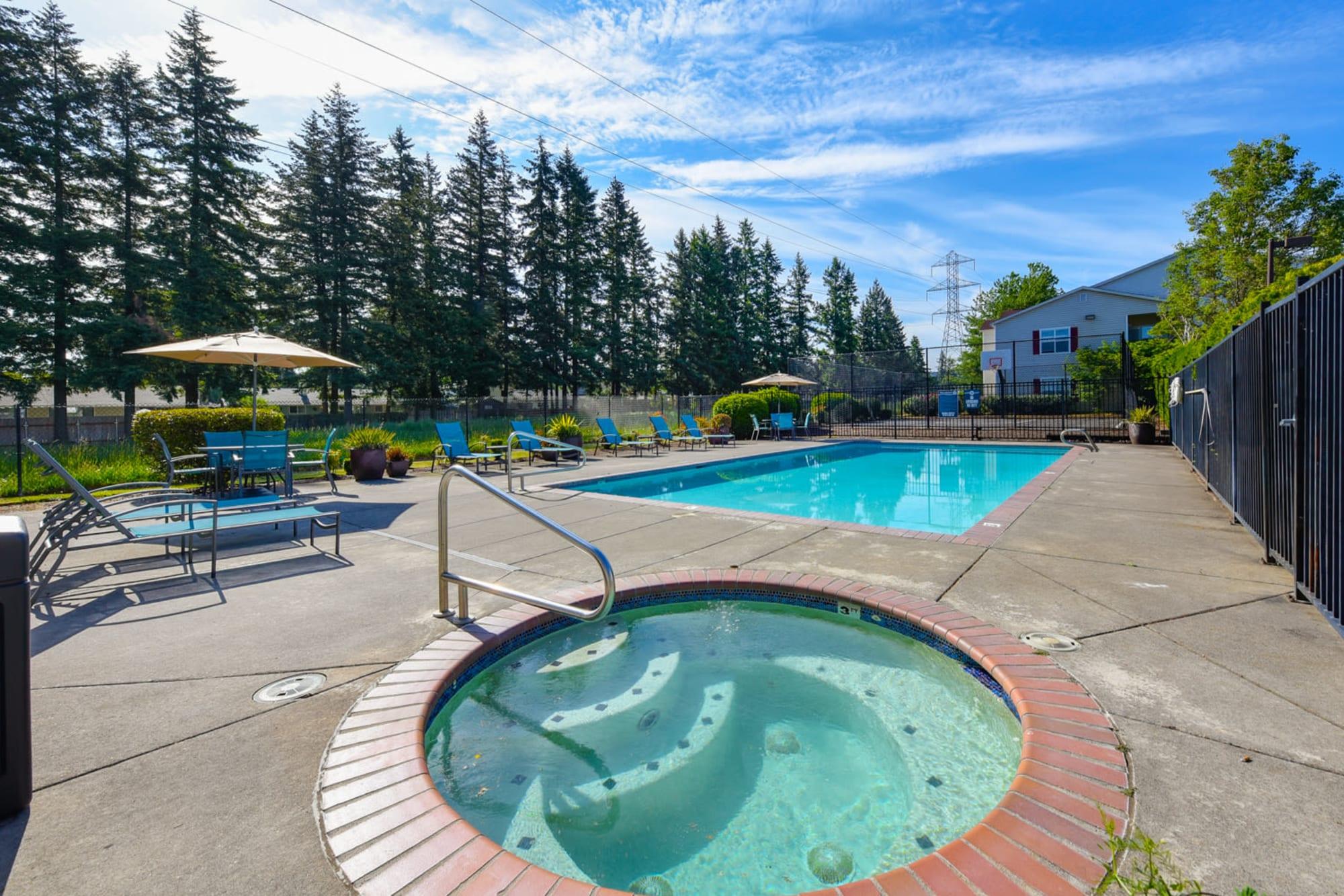 Community pool at The Landings at Morrison Apartments in Gresham, Oregon