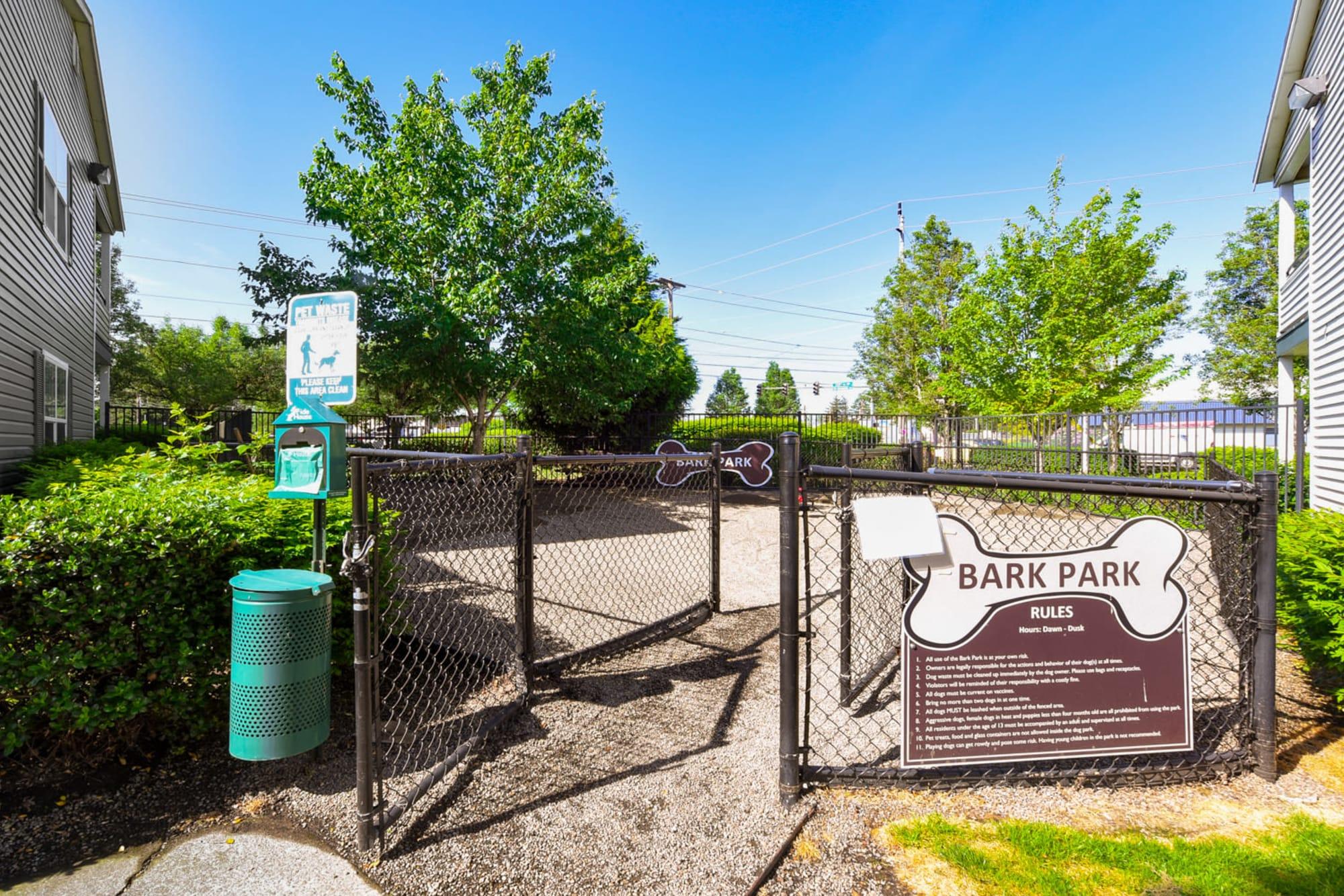 Dog park at The Landings at Morrison Apartments in Gresham, Oregon