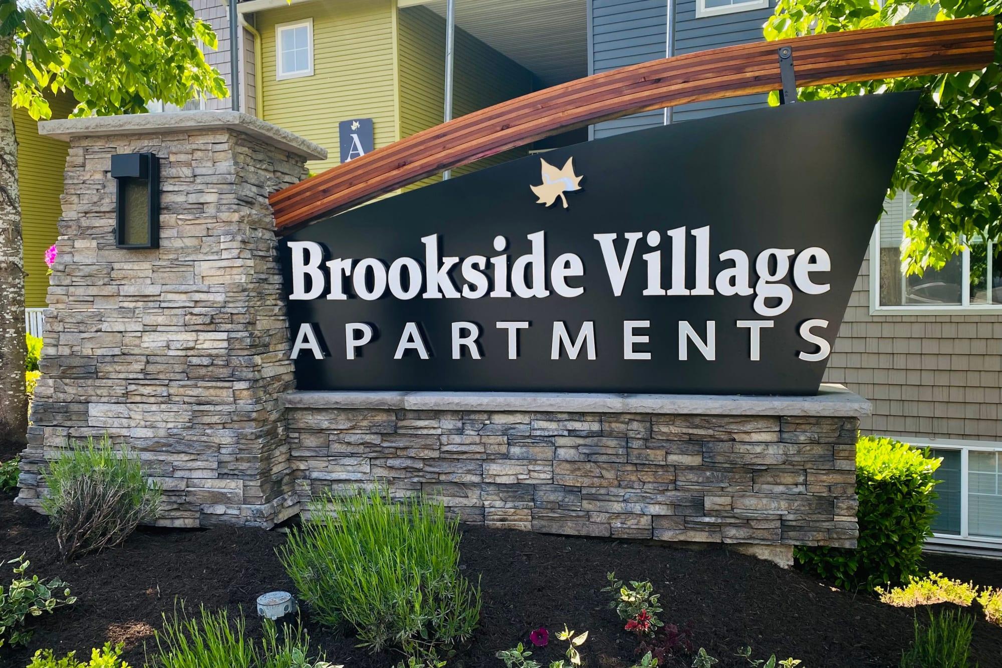 Monument Sign at Brookside Village in Auburn, Washington