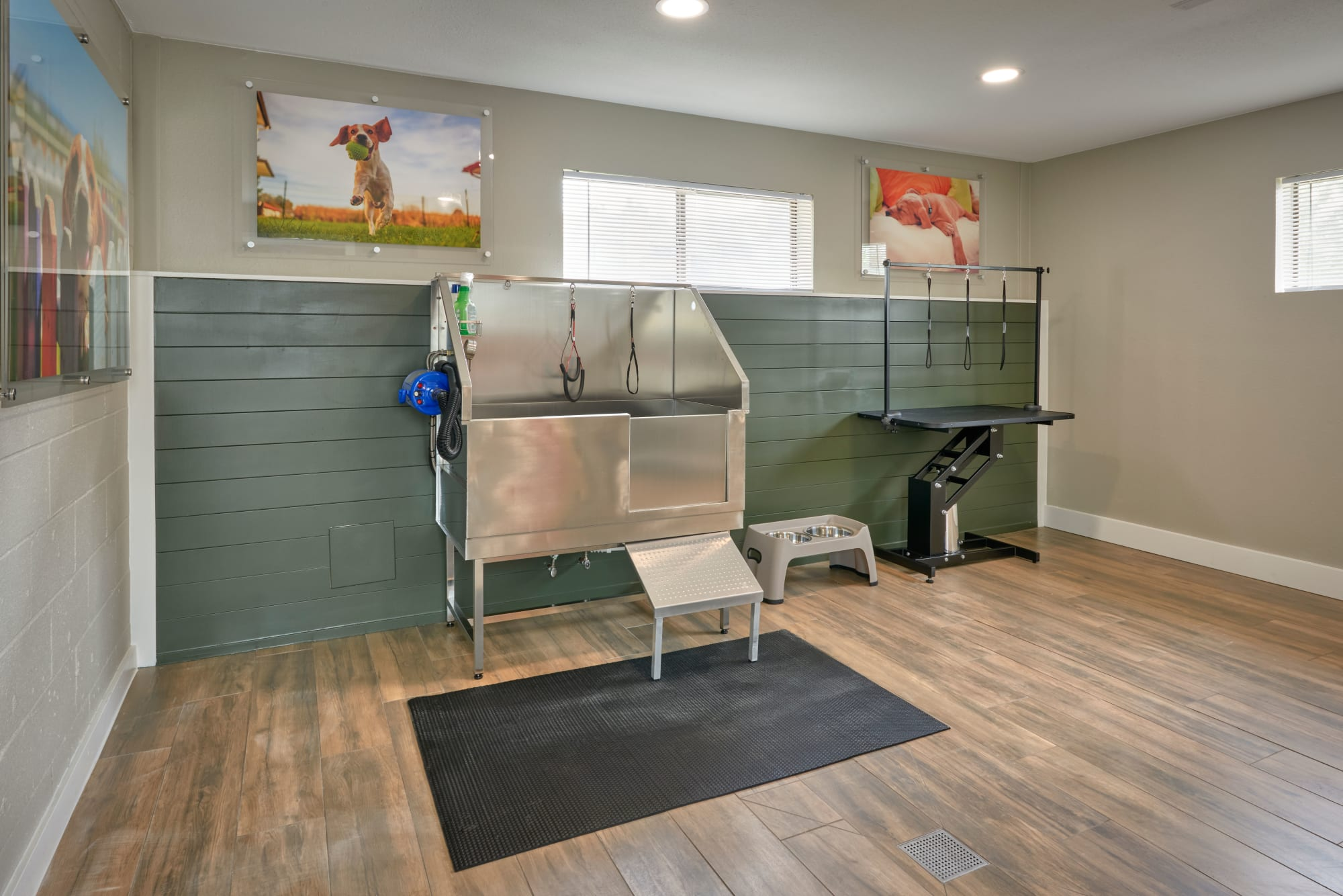 Inside of the clubhouse at Alton Green Apartments in Denver, Colorado