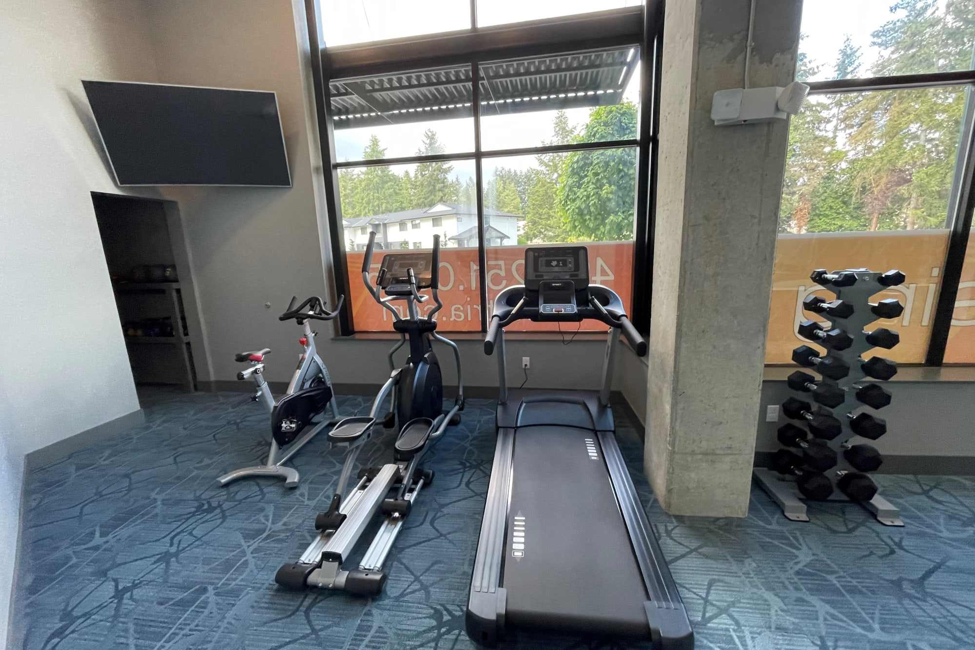 Fitness Center at Tria Apartments in Newcastle, Washington