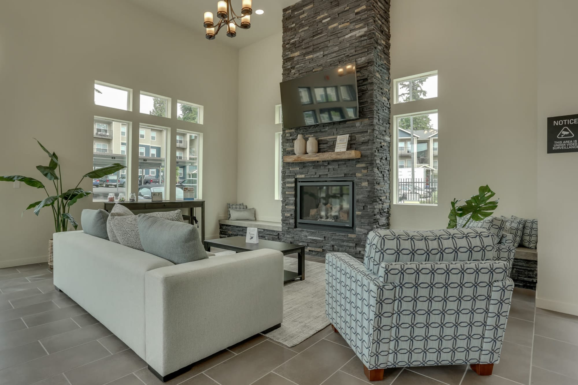 The community lounge at Haven Hills in Vancouver, Washington