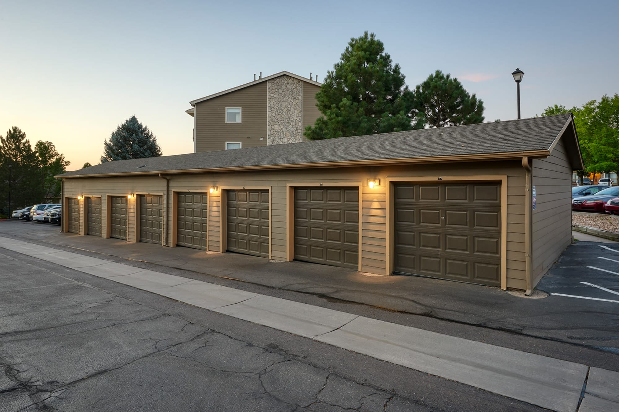 Detached Garages Available at Crossroads at City Center Apartments in Aurora, Colorado