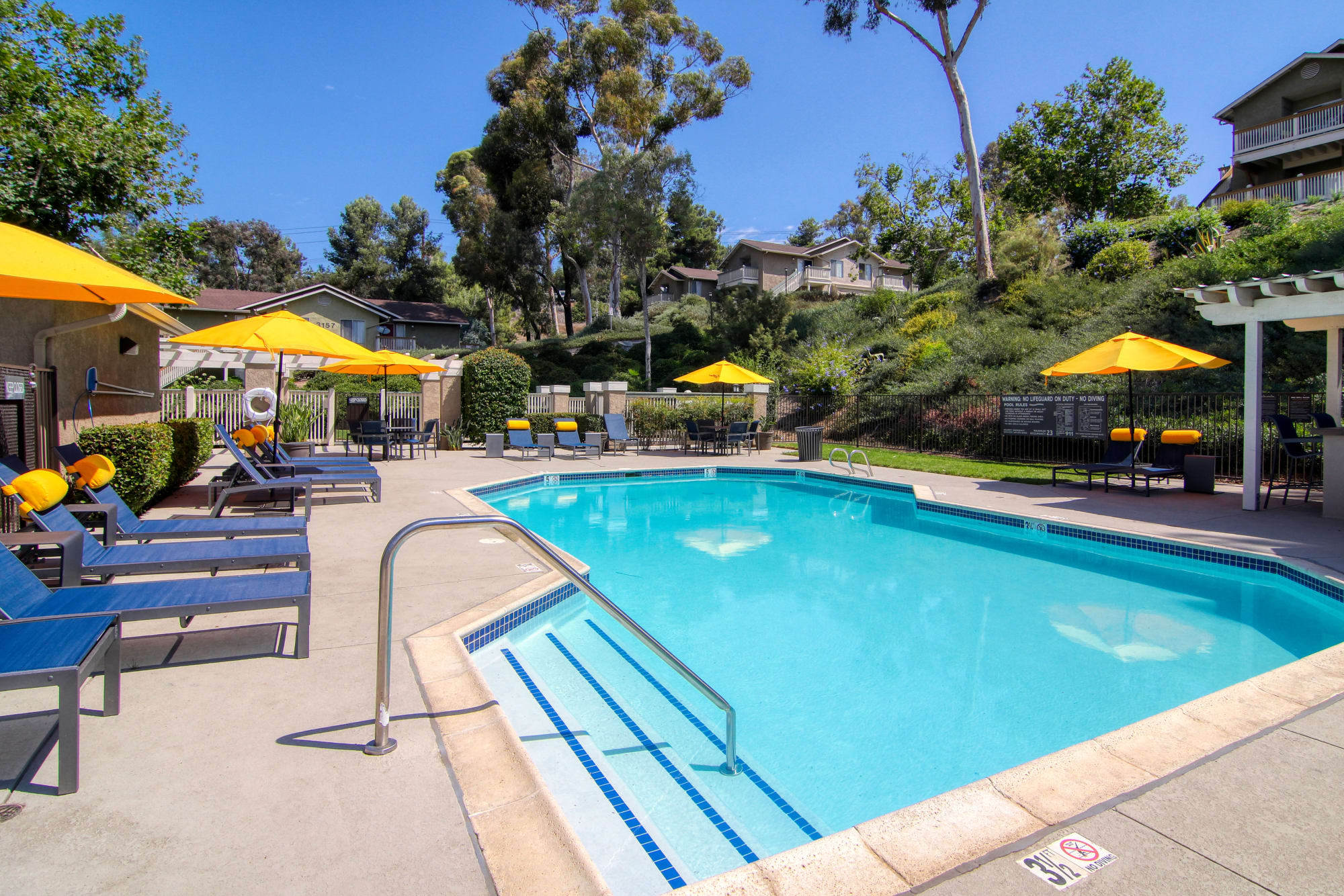 Beautiful pool at Lakeview Village Apartments in Spring Valley, California