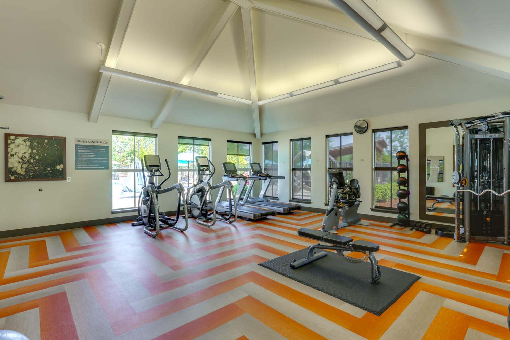24-hour fitness center at Terrene at the Grove in Wilsonville, Oregon