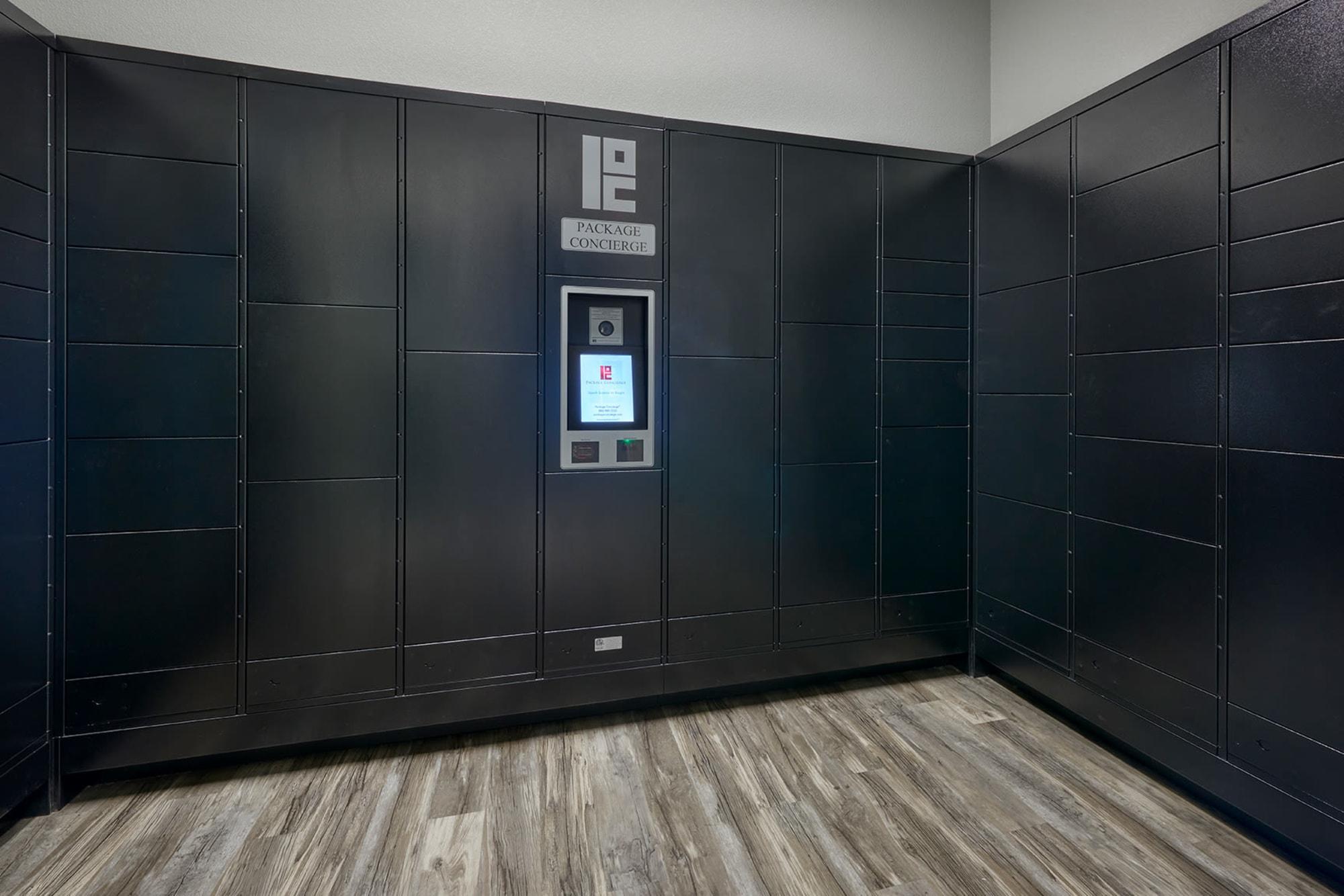 Package Locker System at Crestone Apartments in Aurora, Colorado