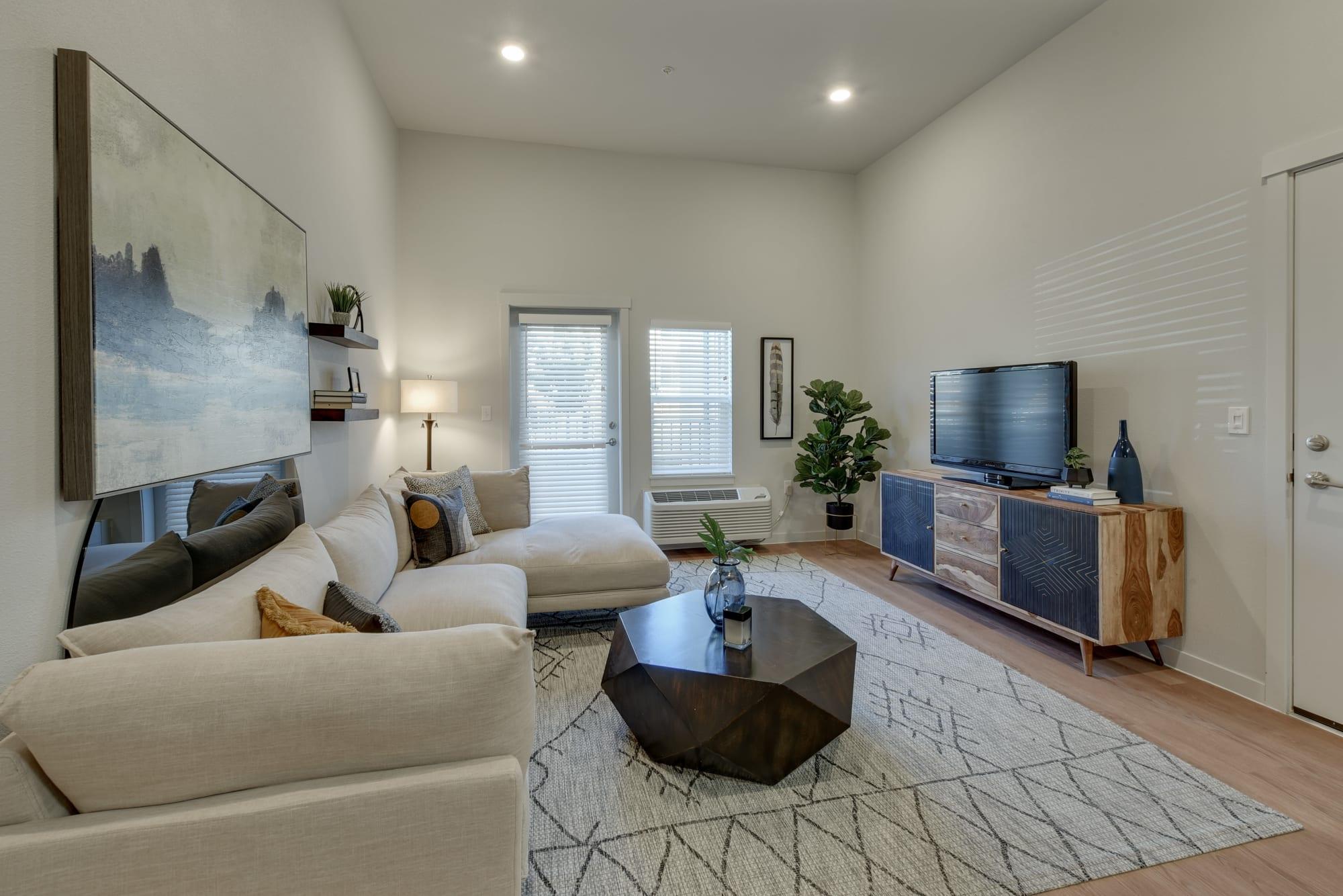 A furnished living room at Kestrel Park in Vancouver, Washington