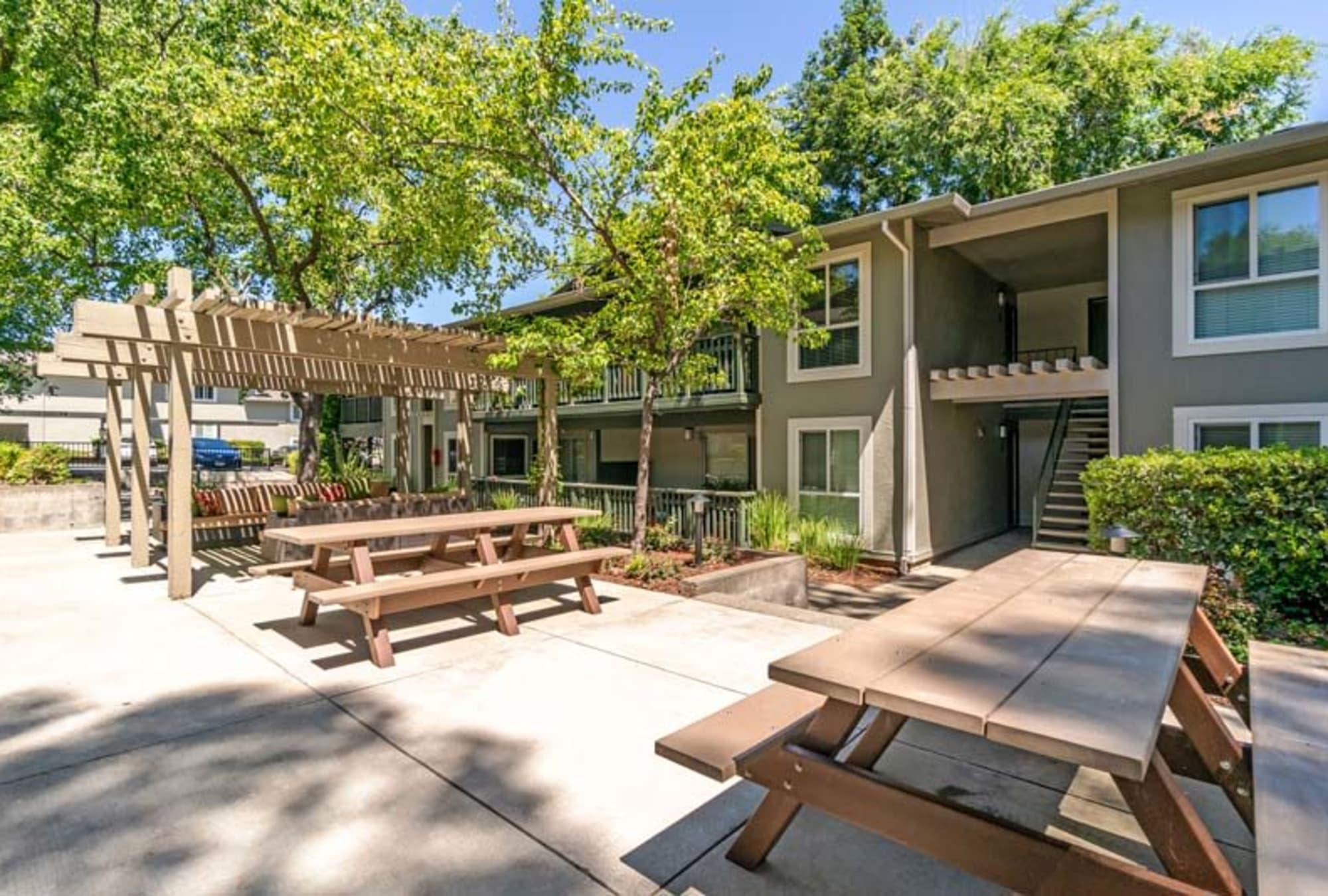 Picnic area at Pleasanton Glen Apartment Homes in Pleasanton, California