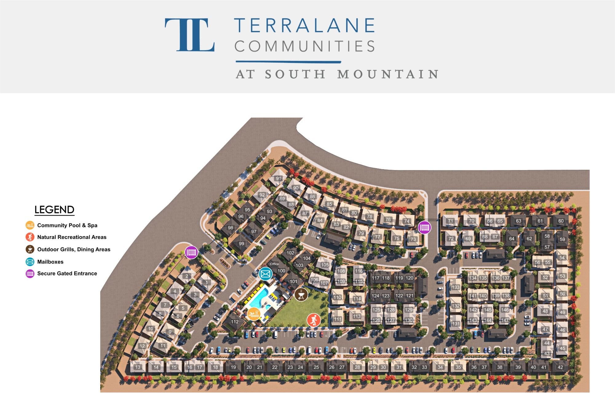 TerraLane at South Mountain site plan