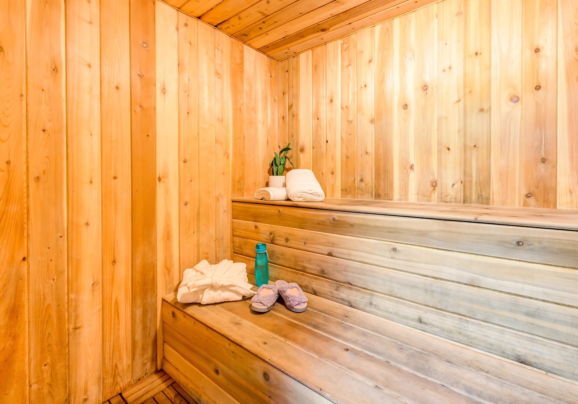 Dry sauna at Rancho Los Feliz in Los Angeles, California