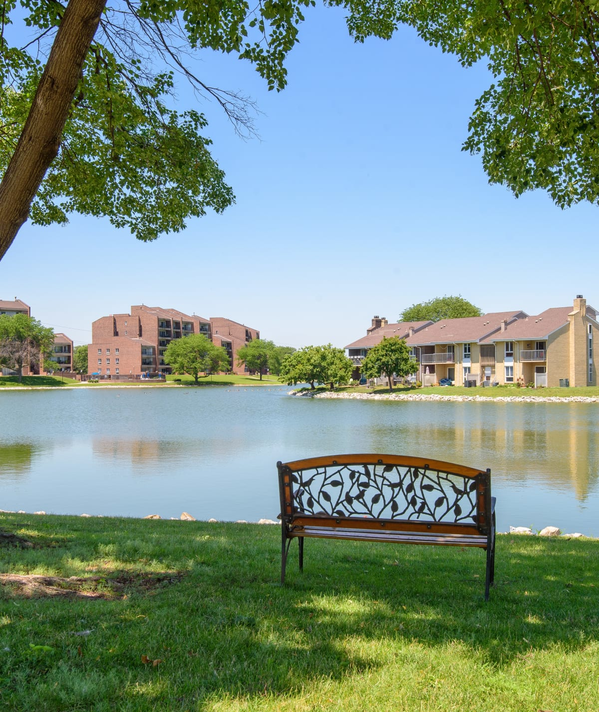 Regency Lakeside Apartment Homes sits on the shore of Lake Regency in Omaha, NE