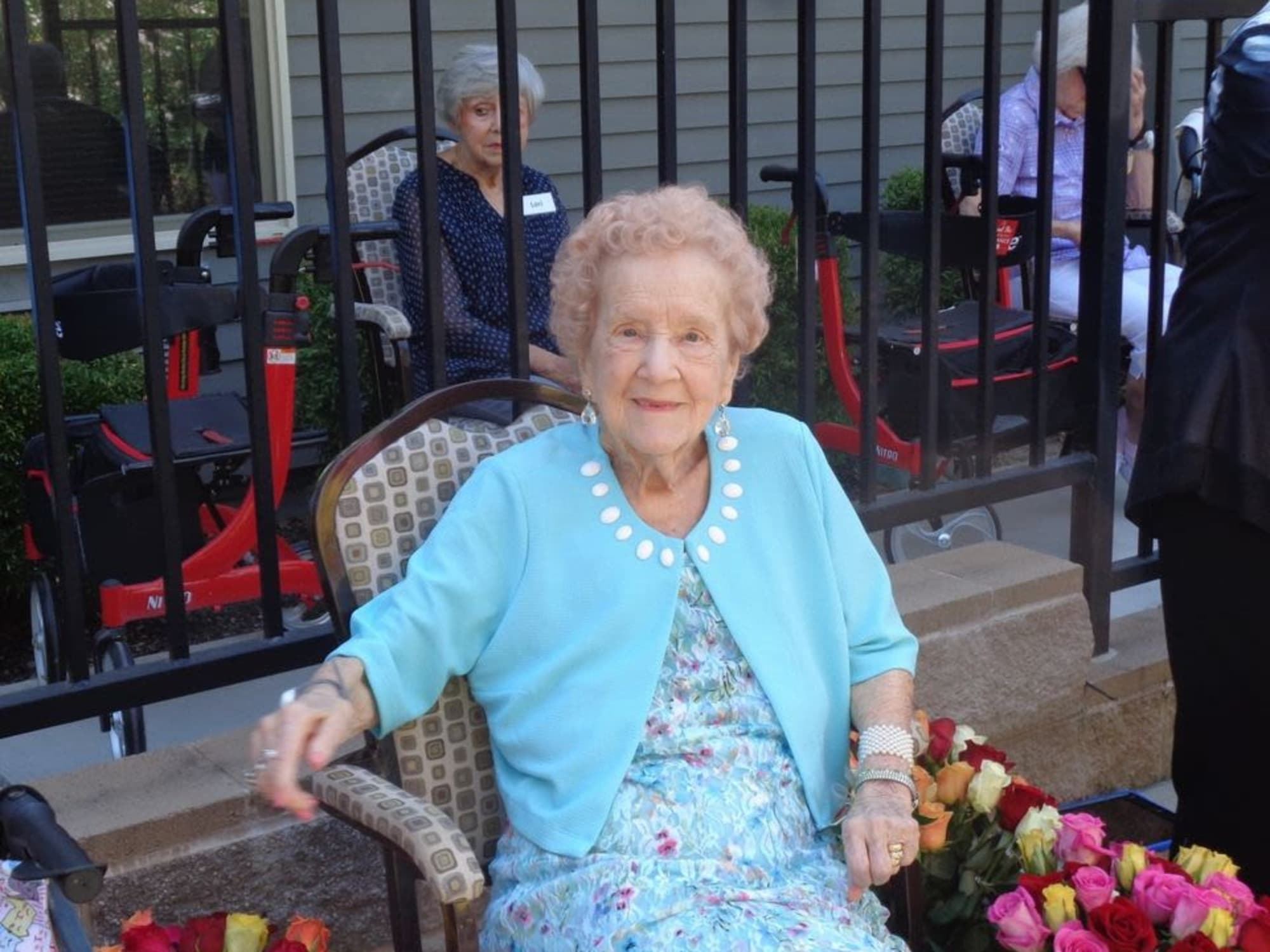Picture of a resident in a chair at Almond Heights in Orangevale, CA