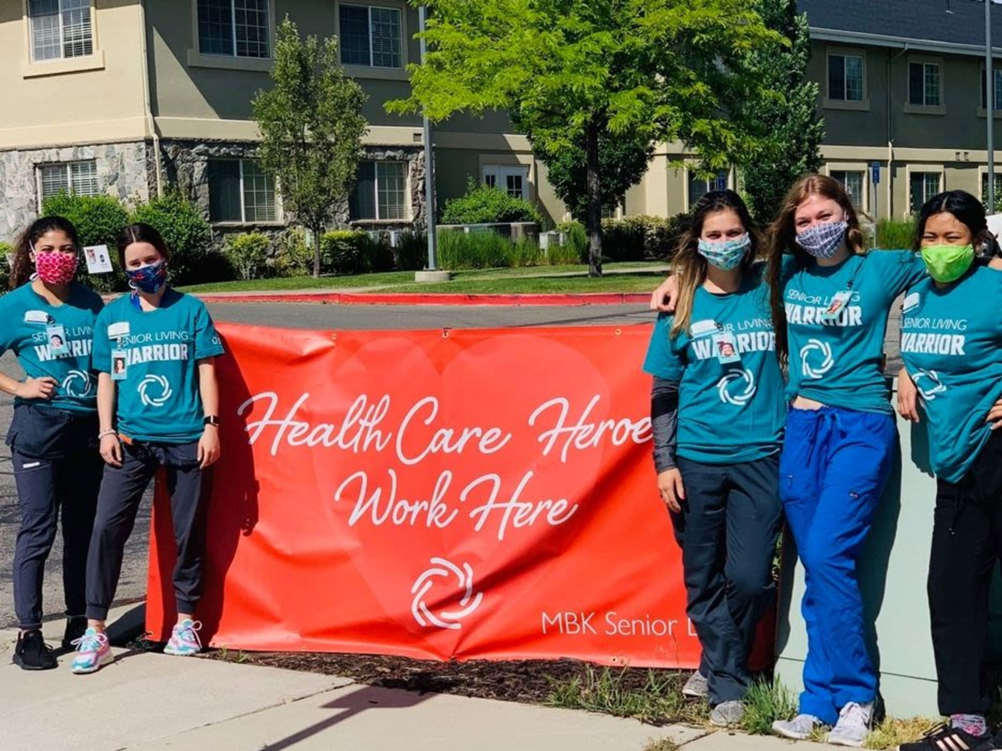 Health care workers at Chancellor Gardens in Clearfield, UT