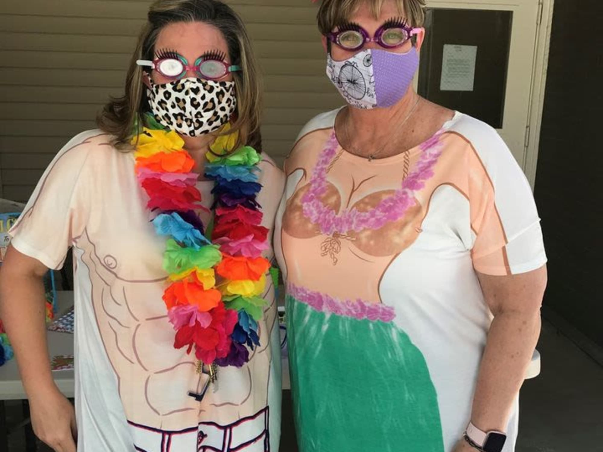A couple residents dressed up at Cottonwood Creek in Salt Lake City, UT
