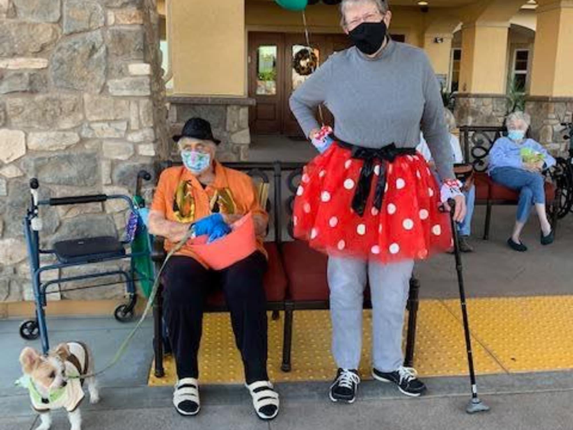 Halloween costumes at Estancia Del Sol in Corona, CA