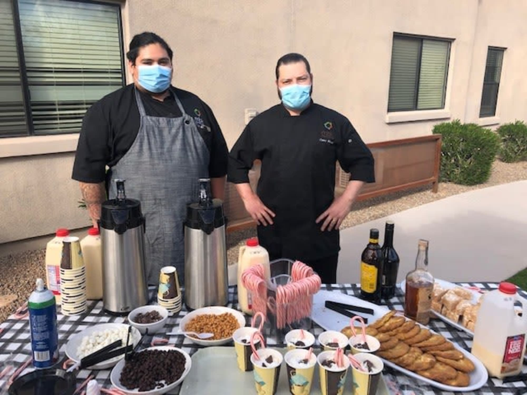 Serving food at Hacienda Del Rey in Litchfield Park, AZ