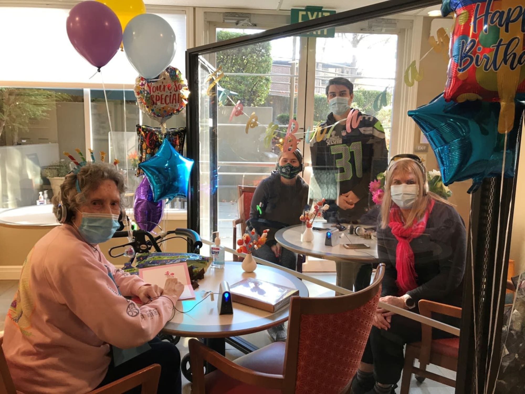 Having a birthday at Island House Assisted Living in Mercer Island, Washington