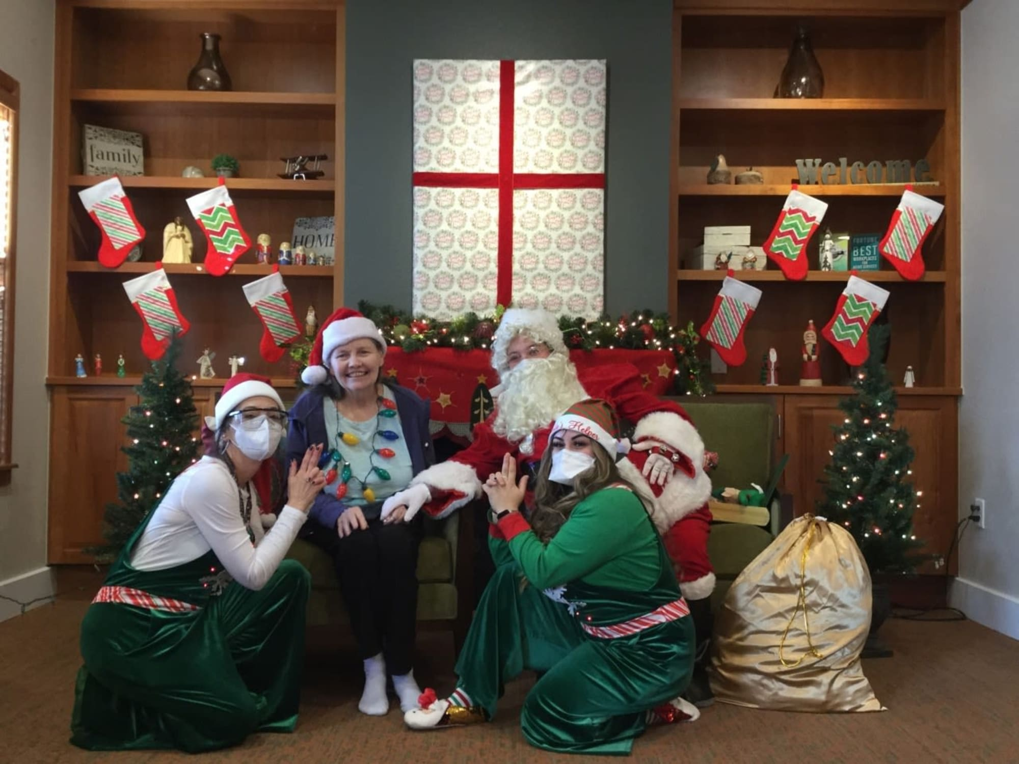 Christmas time at Seven Lakes Memory Care in Loveland, Colorado