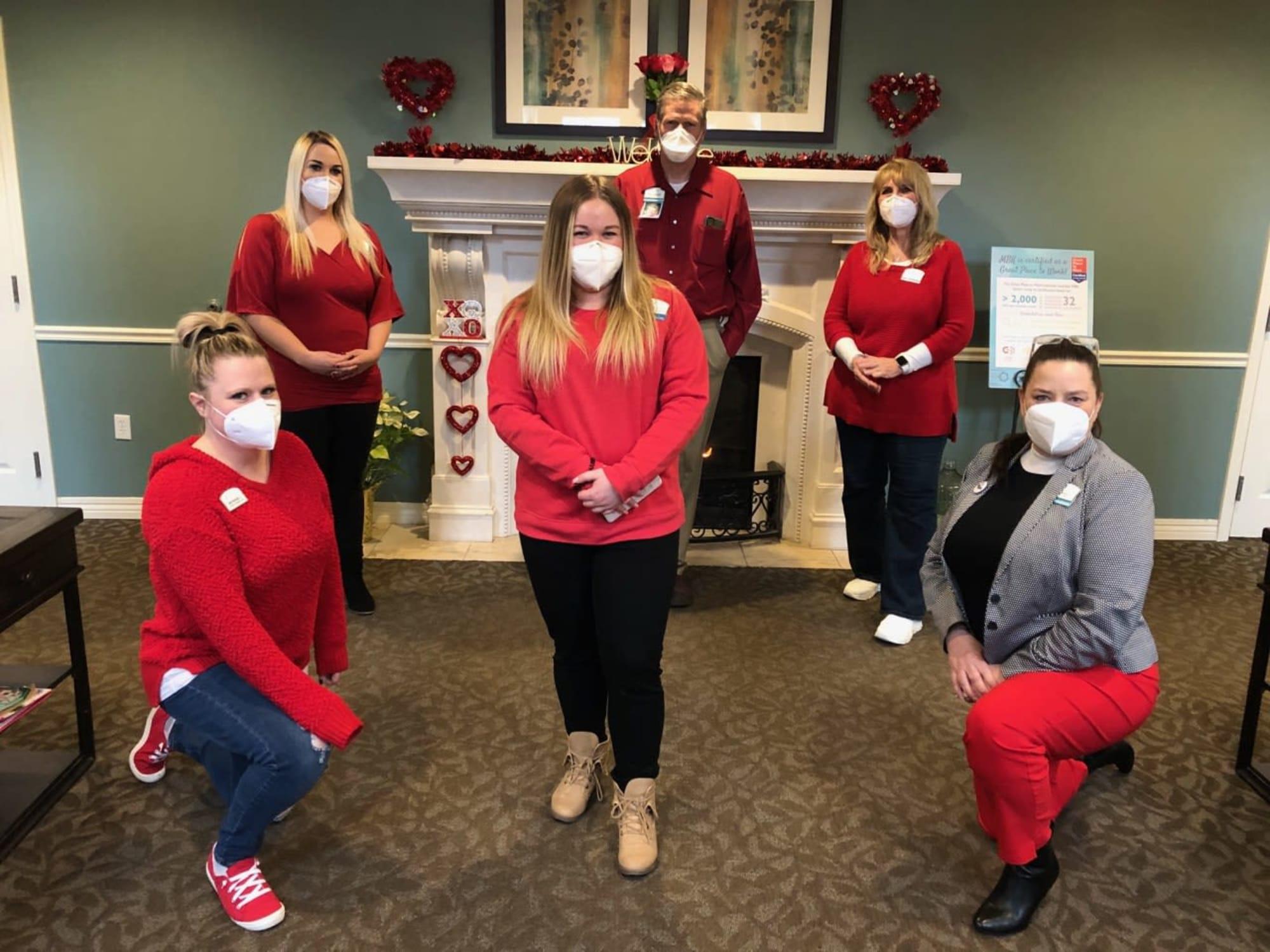 Staff members at The Charleston at Cedar Hills in Cedar Hills, Utah