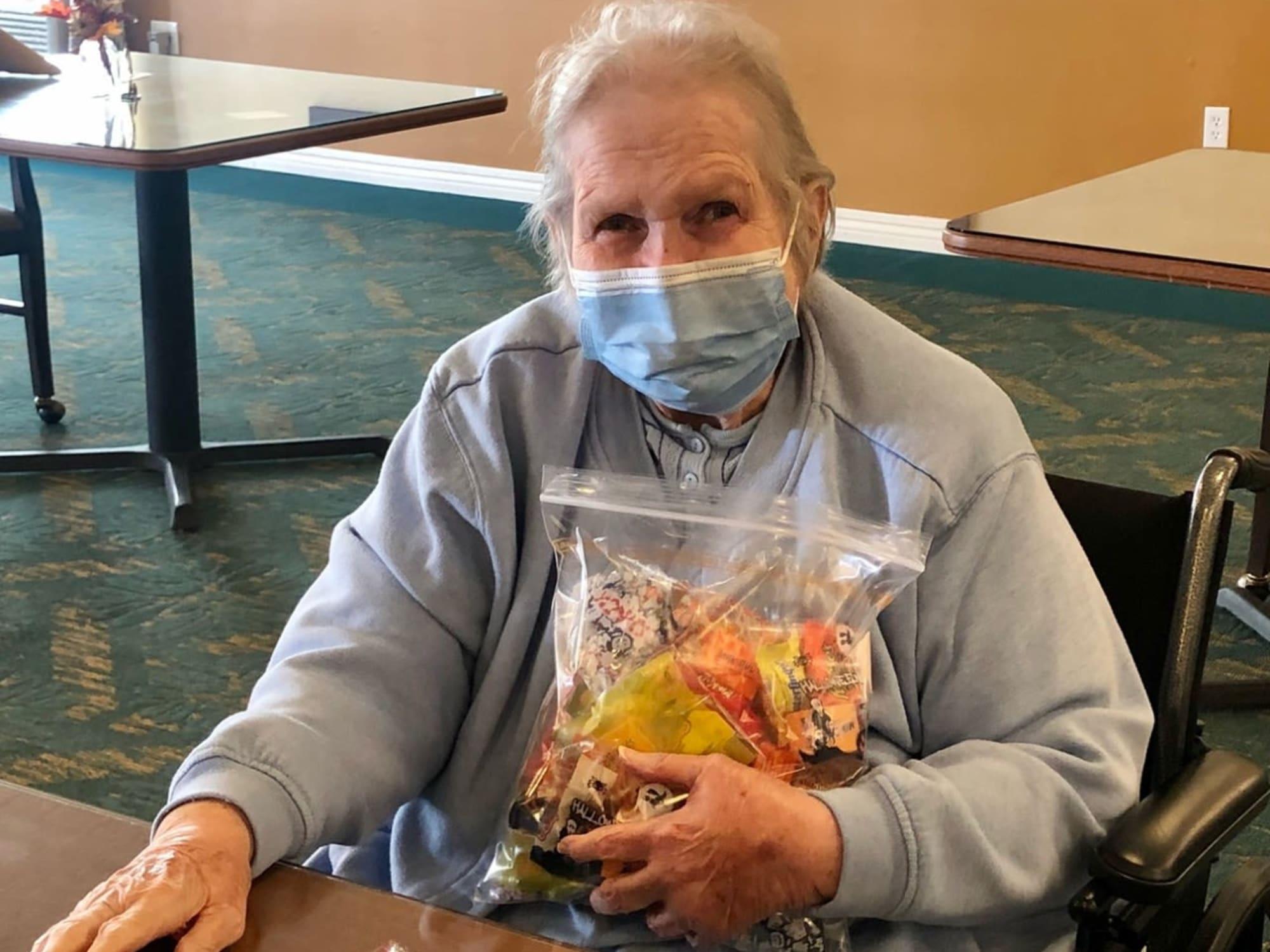 A bag of candy at The Charleston at Cedar Hills in Cedar Hills, Utah