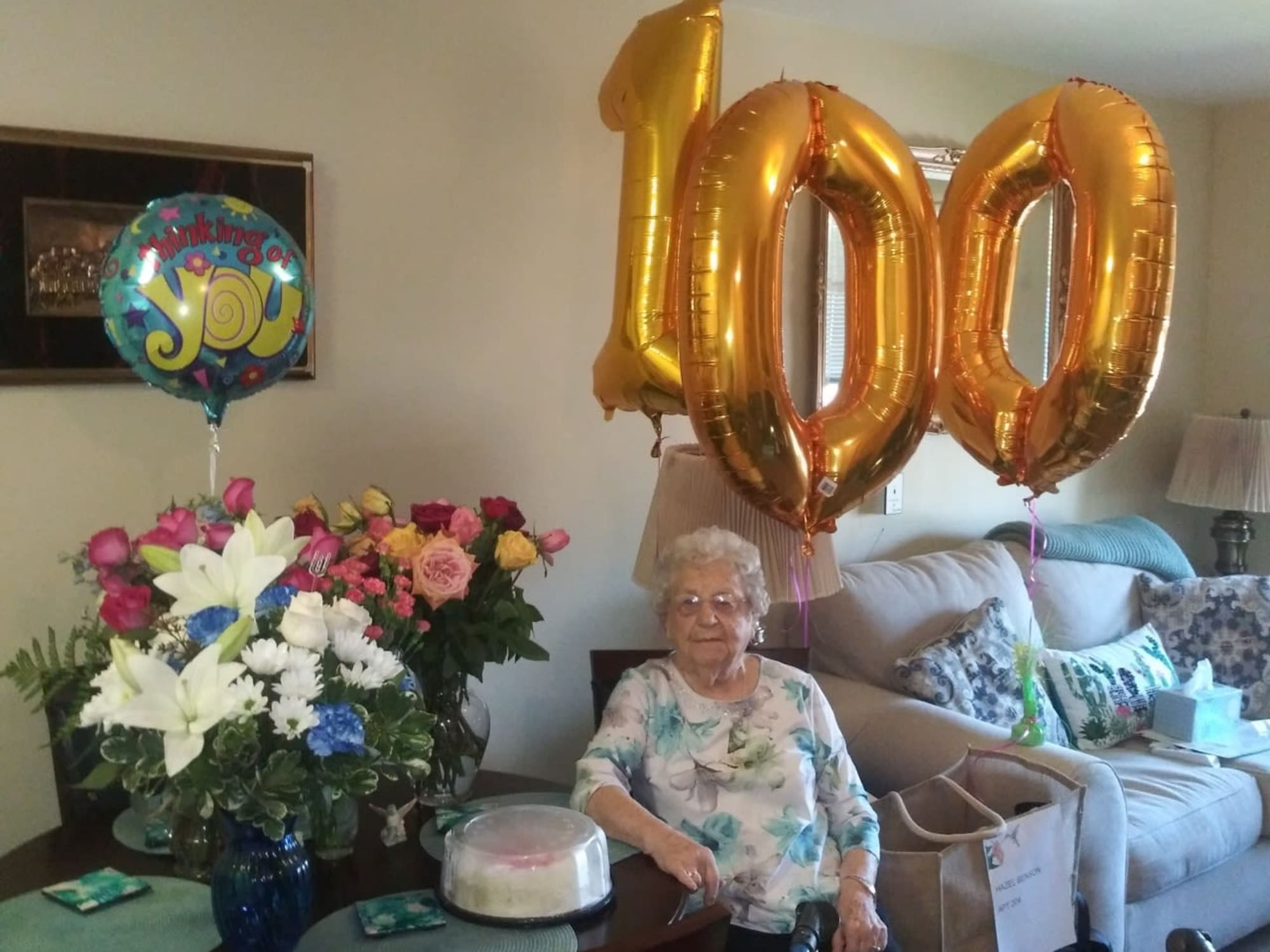100th birthday at The Commons at Union Ranch in Manteca, California