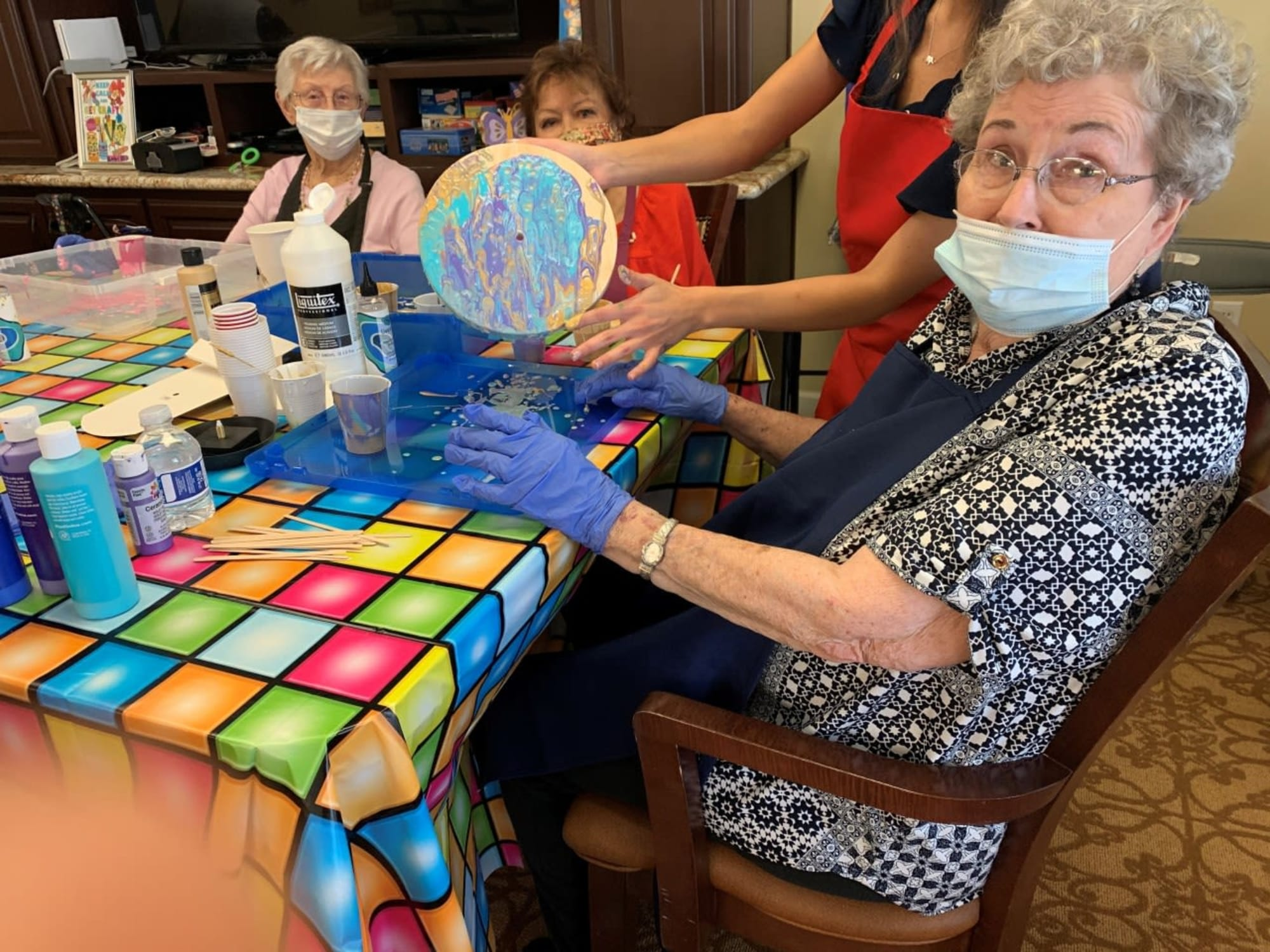 Arts and crafts at The Commons on Thornton in Stockton, California