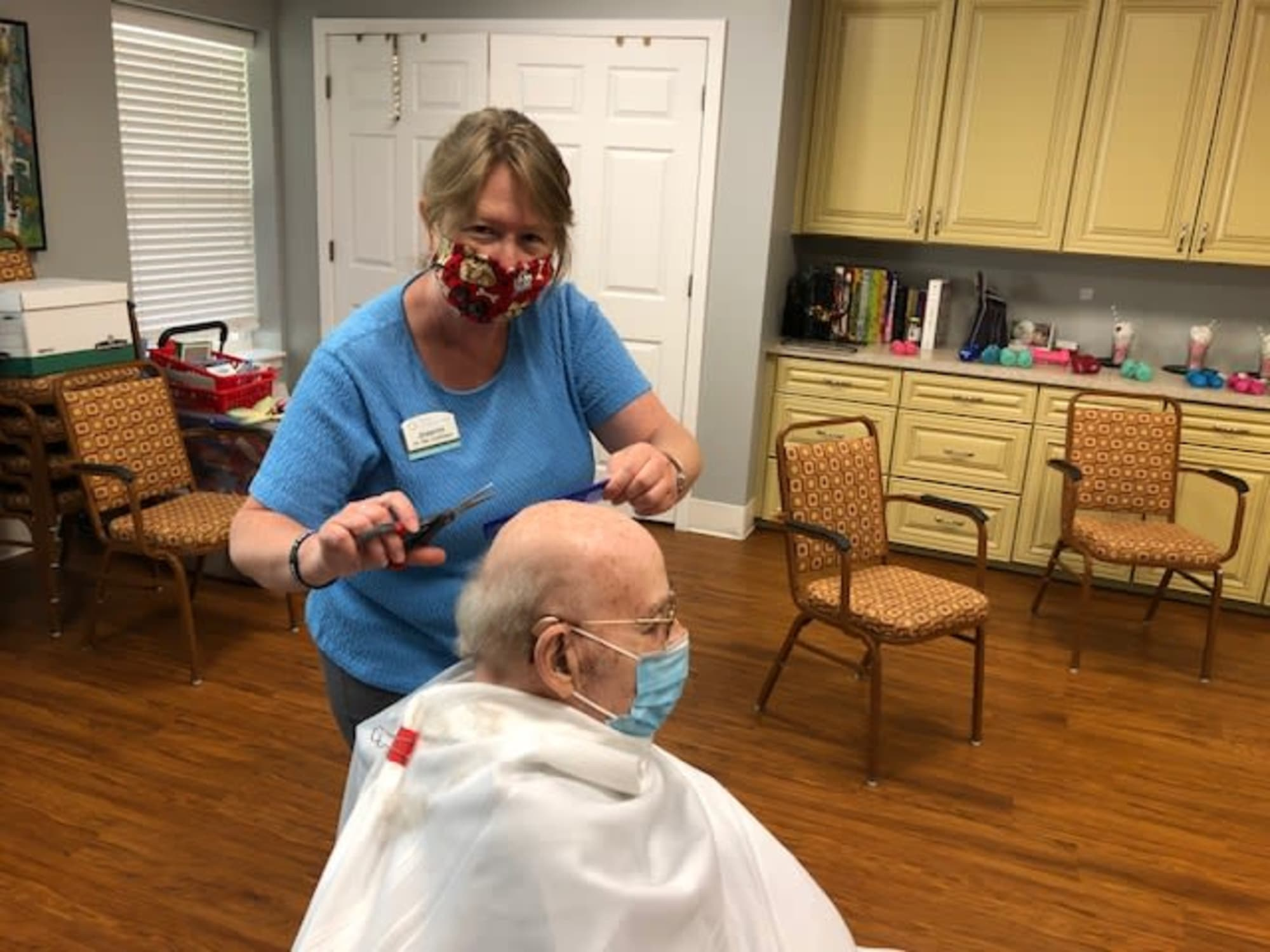 Haircutting at The Inn at Greenwood Village in Greenwood Village, Colorado