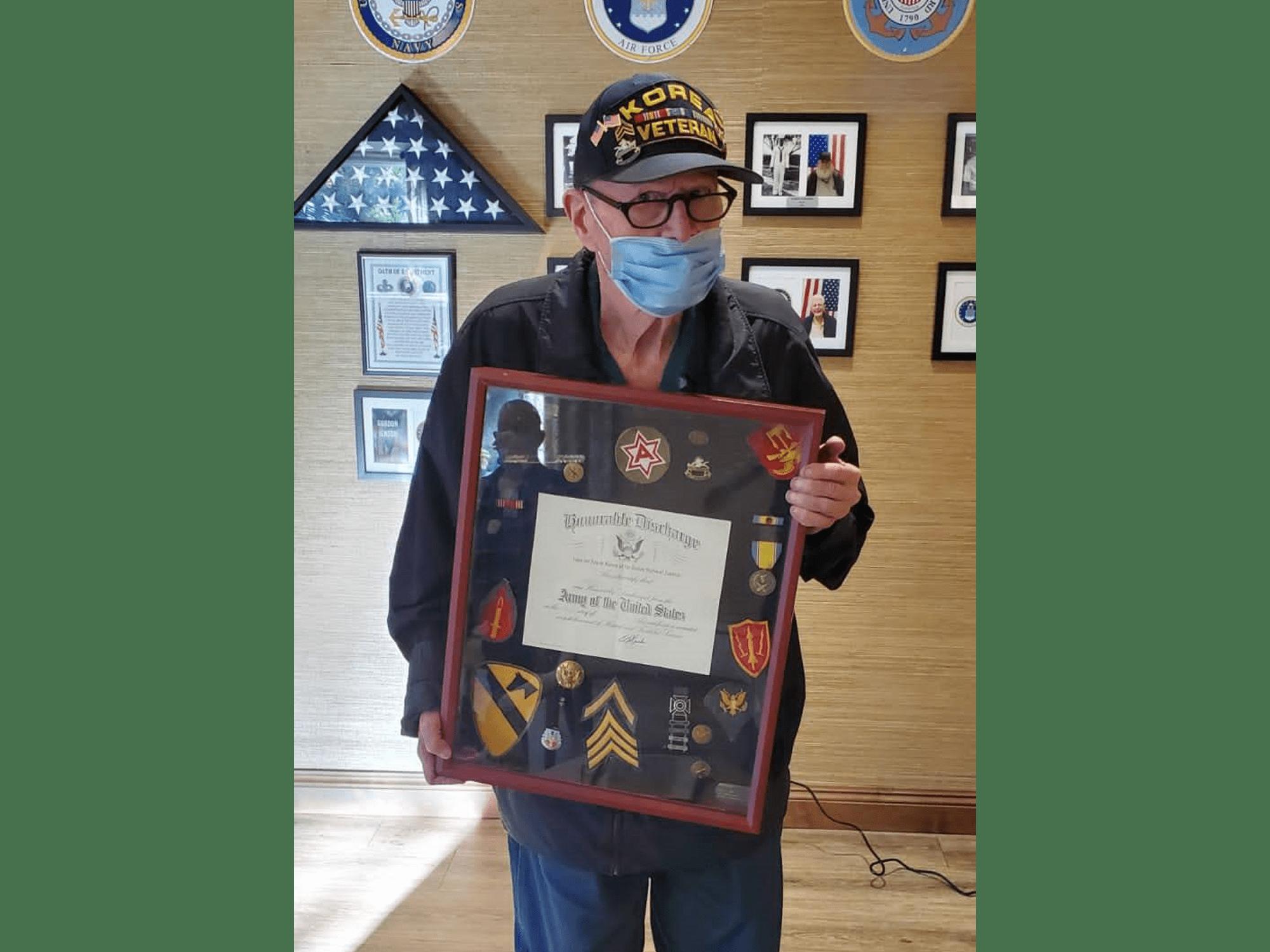 A veteran at The Montera in La Mesa, CA