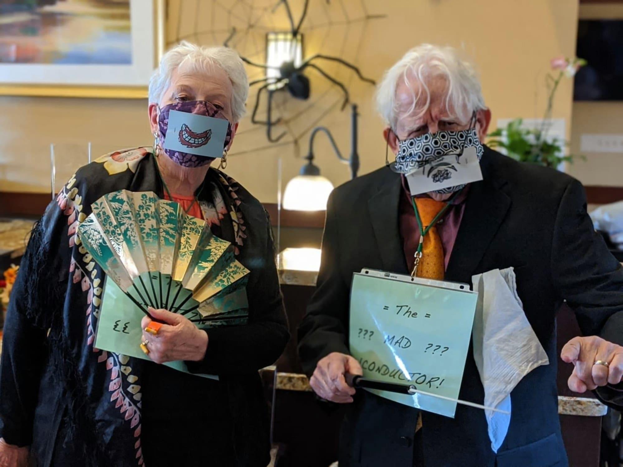 Creative masks at The Wellington in Salt Lake City, Utah