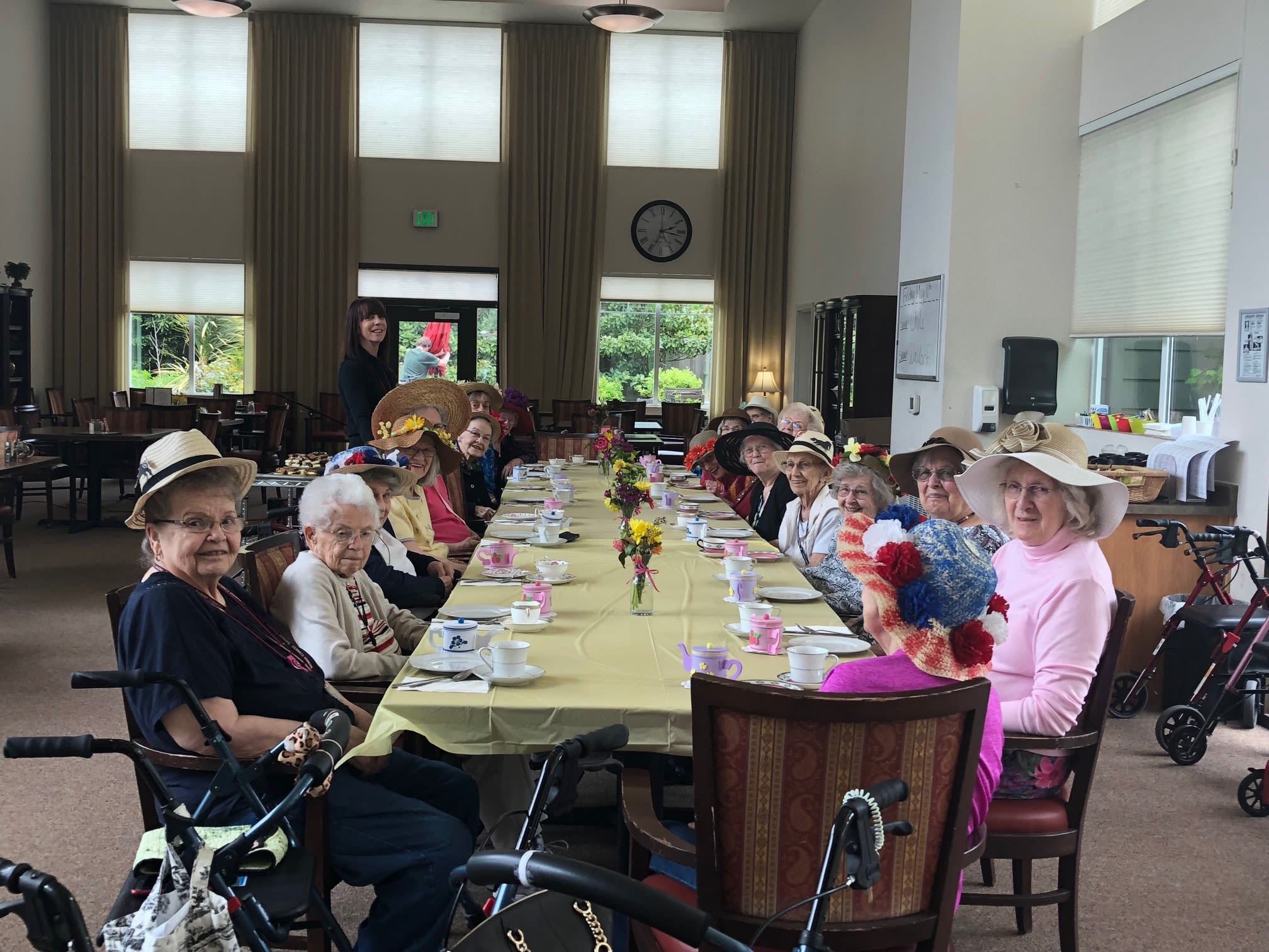 Mad Hatter Tea Party at Bayberry Commons Assisted Living and Memory Care.