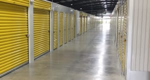 Well lit unit halls at Storage Star Red Bluff in Pasadena, Texas