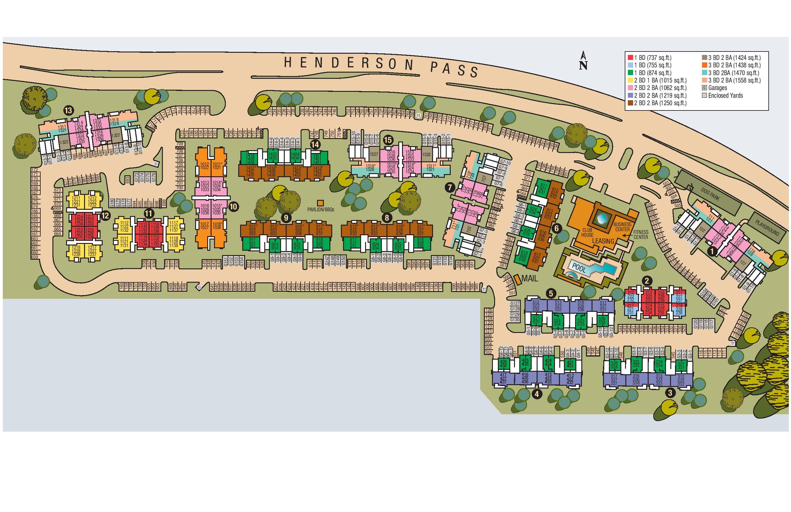 Site map of Sedona Ranch Apartments in San Antonio, TX
