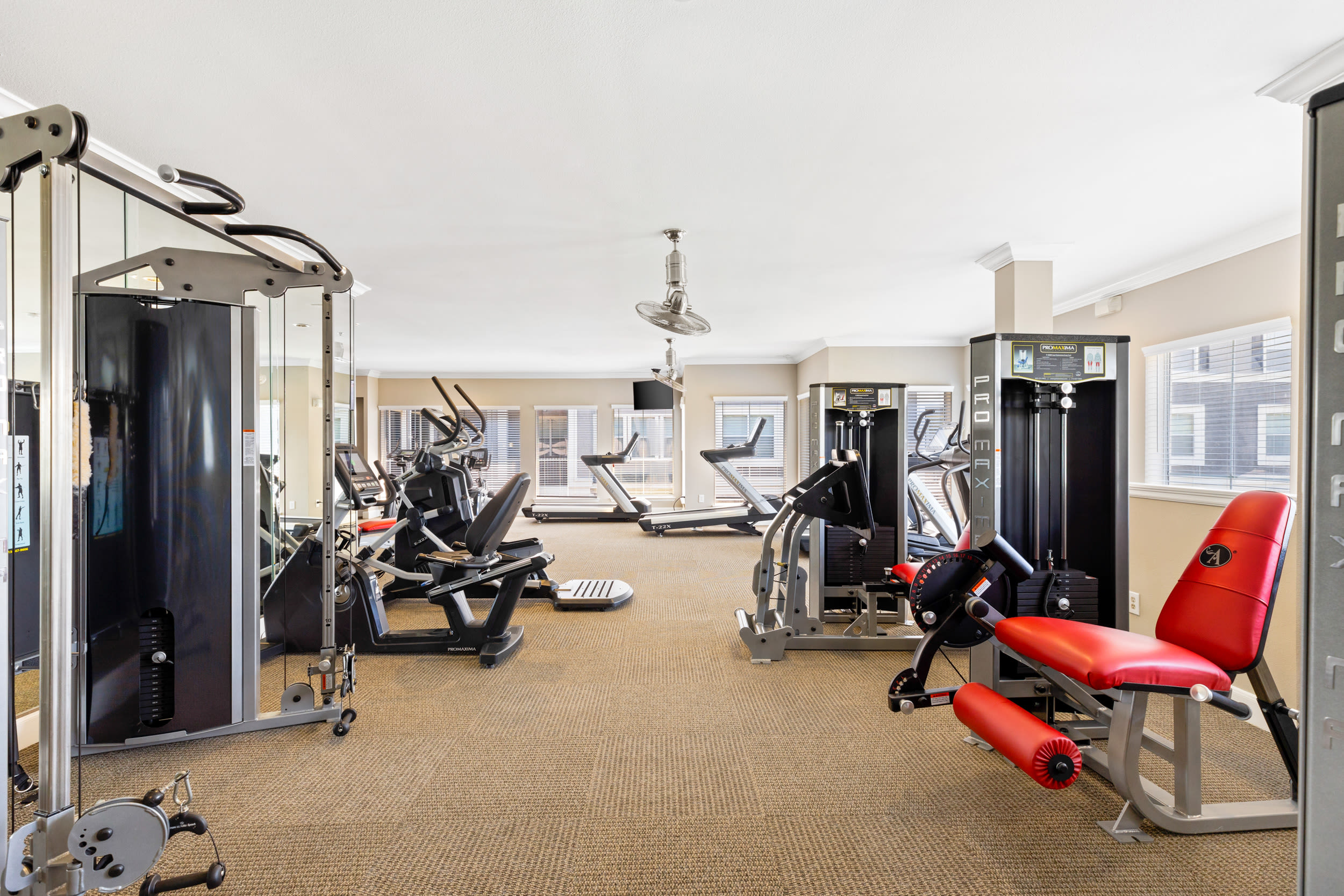 Fitness center at The Abbey on Lake Wyndemere in The Woodlands