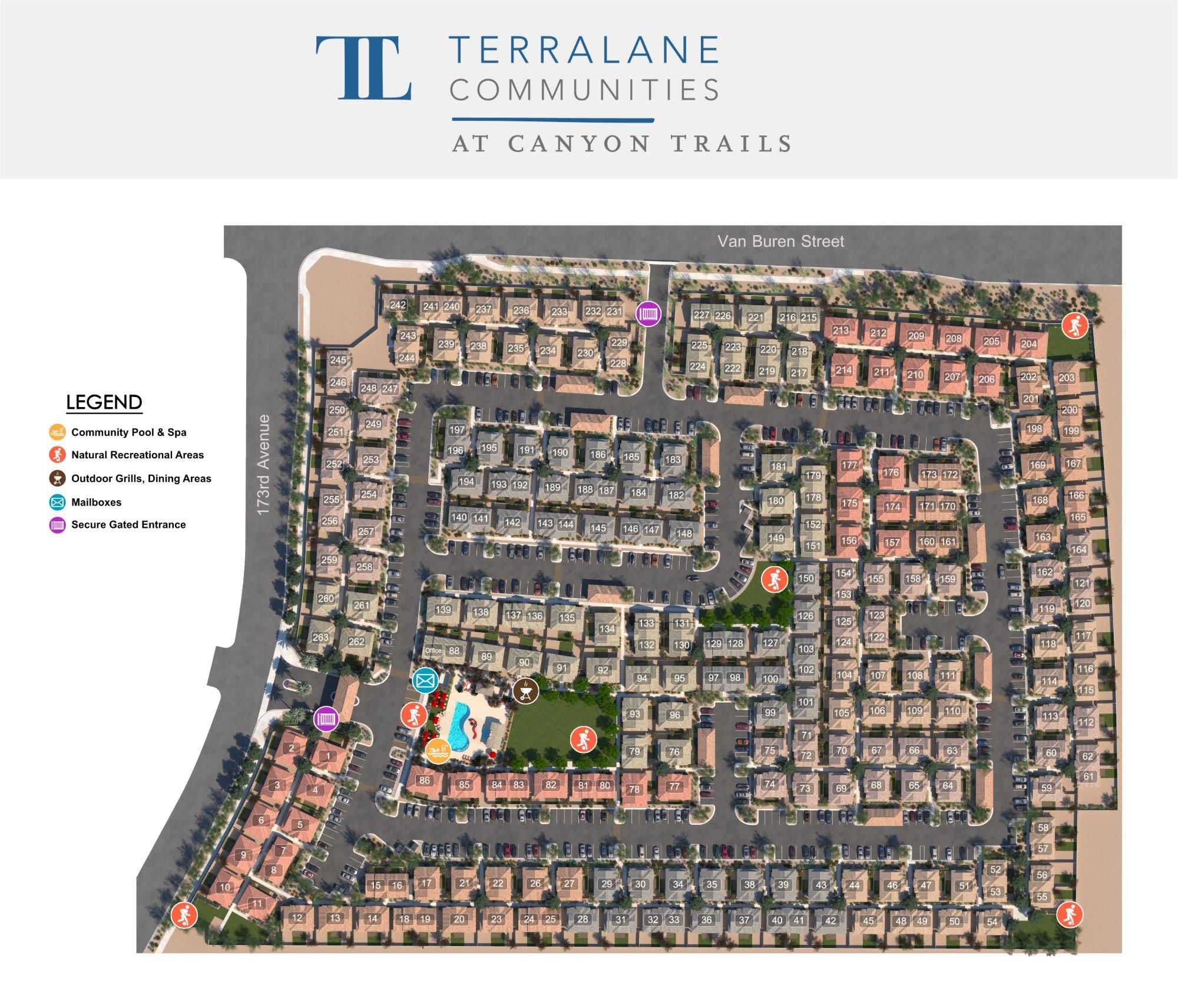 TerraLane at Canyon Trails site plan