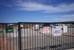 Gated entry at Alpha Self Storage in Cottonwood, AZ