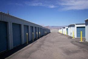 Exterior view of Alpha Self Storage storage units in Cottonwood, AZ