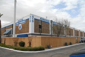 Exterior view of American Self Storage in Tucson, AZ