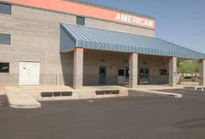 Front office of American Self Storage in Yuma, AZ